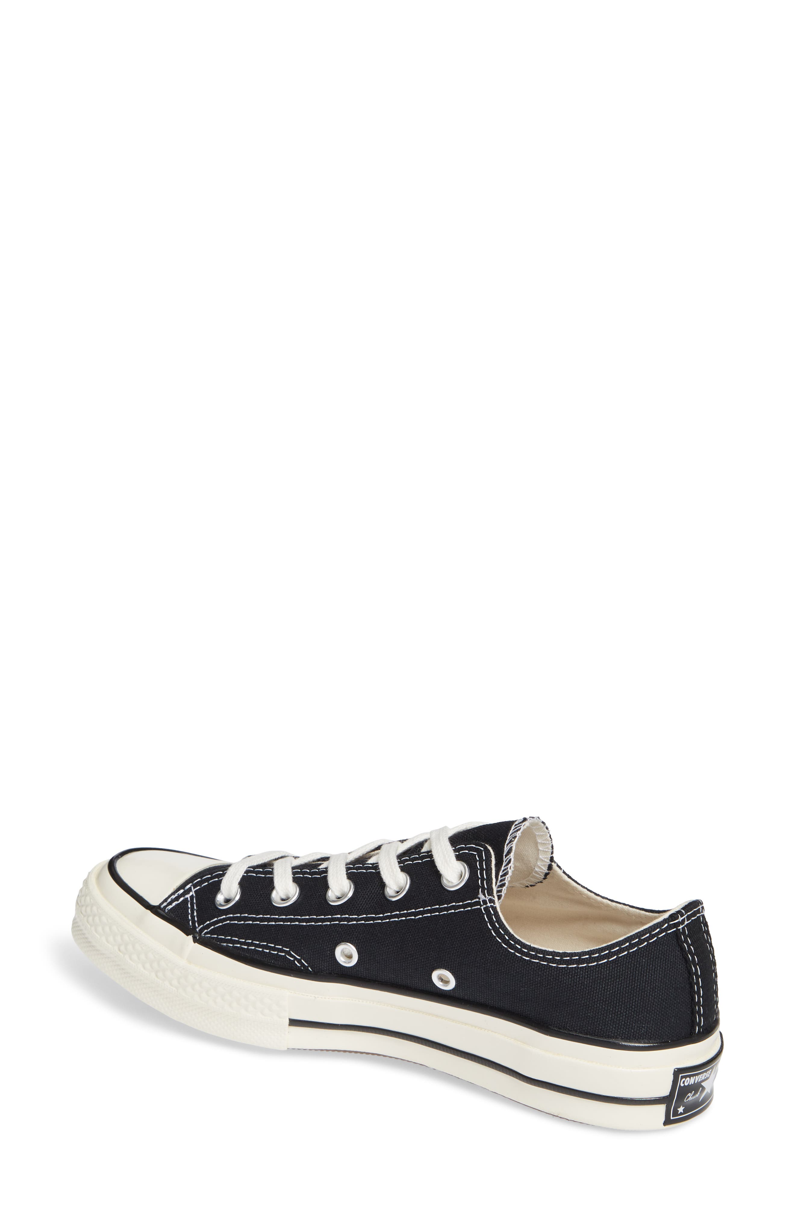 CONVERSE, Chuck Taylor<sup>®</sup> All Star<sup>®</sup> Chuck 70 Ox Sneaker, Alternate thumbnail 2, color, BLACK/ BLACK/ EGRET