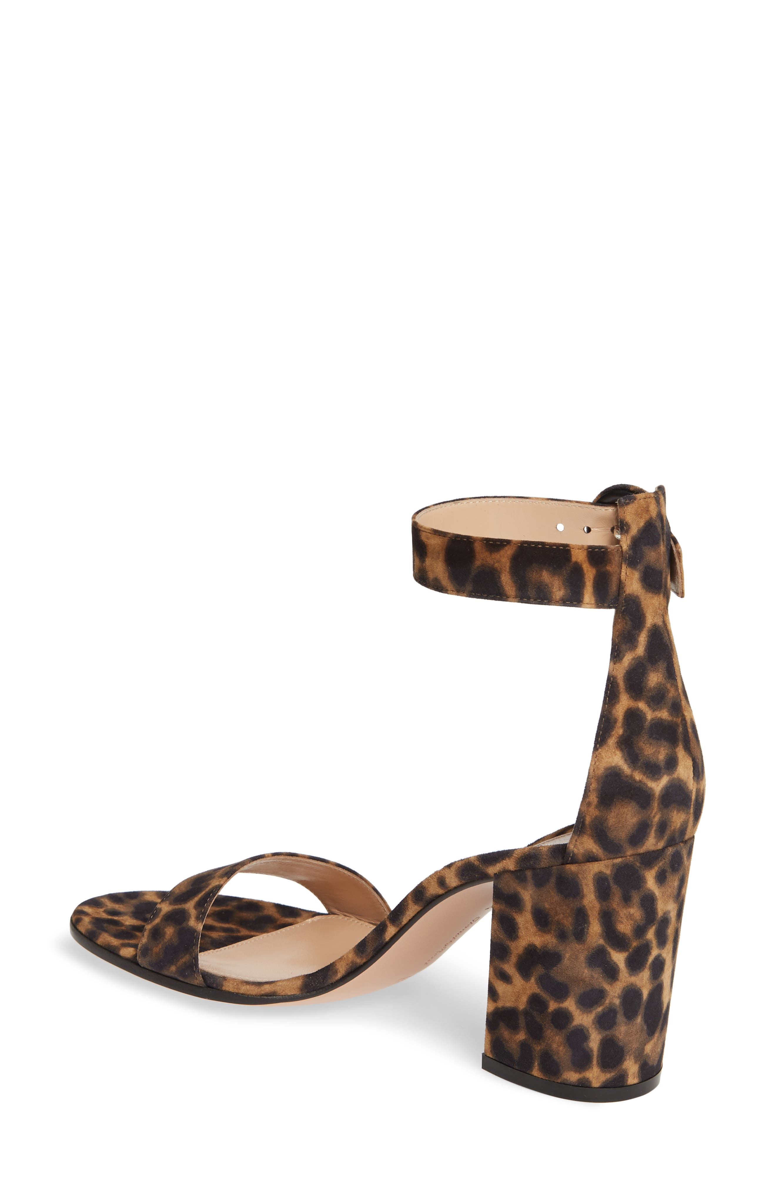 GIANVITO ROSSI, Leopard Print Ankle Strap Sandal, Alternate thumbnail 2, color, LEOPARD