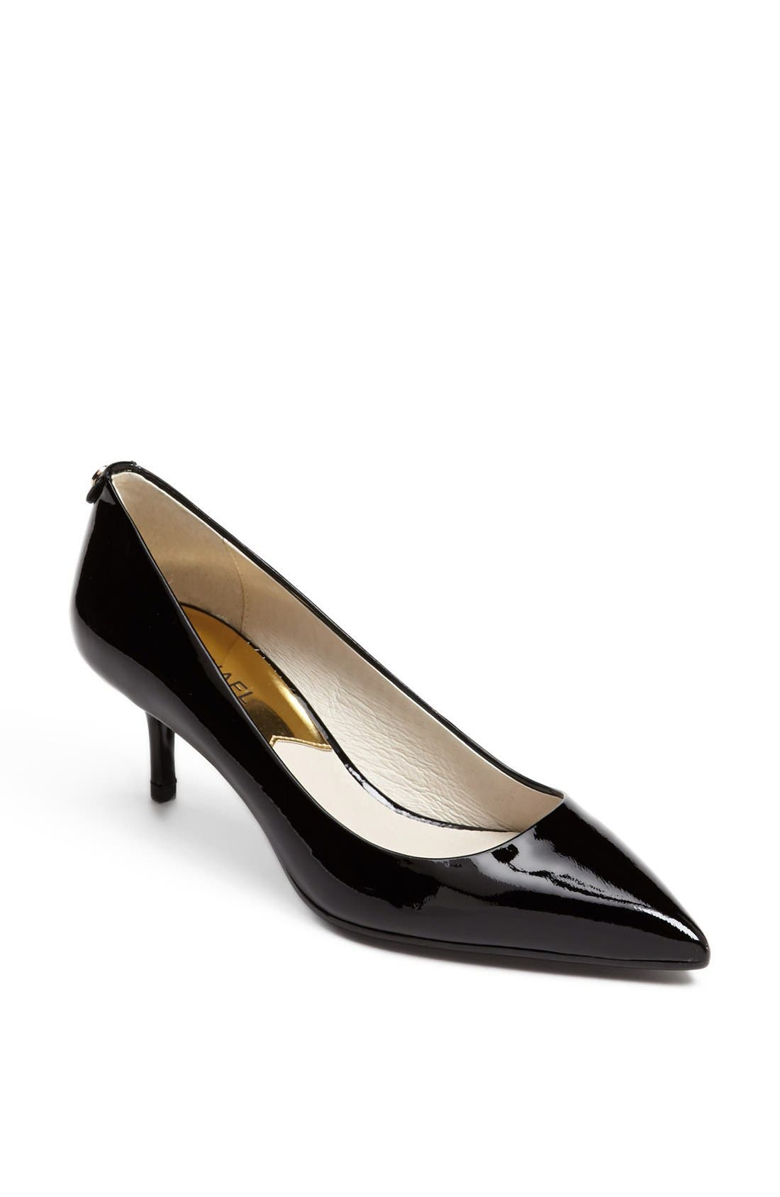 MICHAEL MICHAEL KORS Kitten Heel Pump, Main, color, BLACK