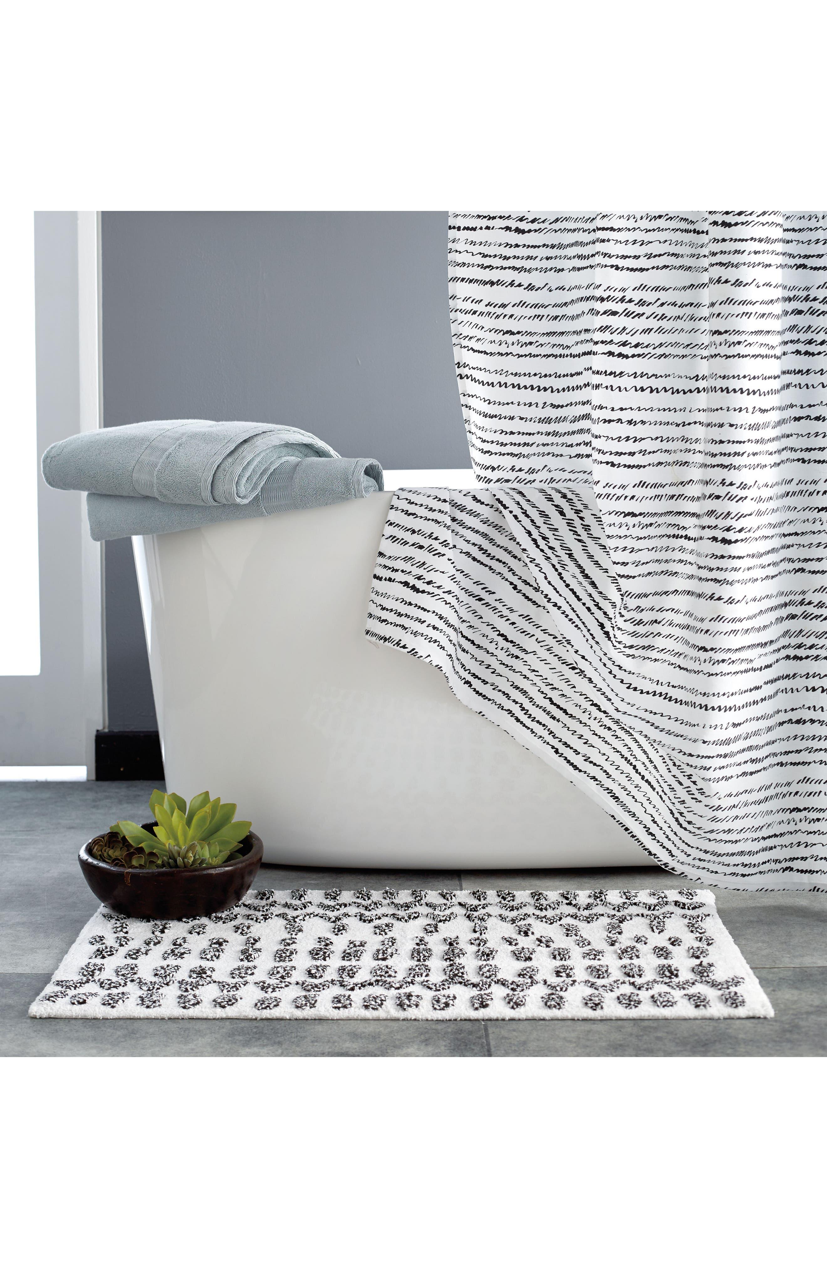 DKNY, Vibe Bath Rug, Alternate thumbnail 3, color, BLACK/ WHITE