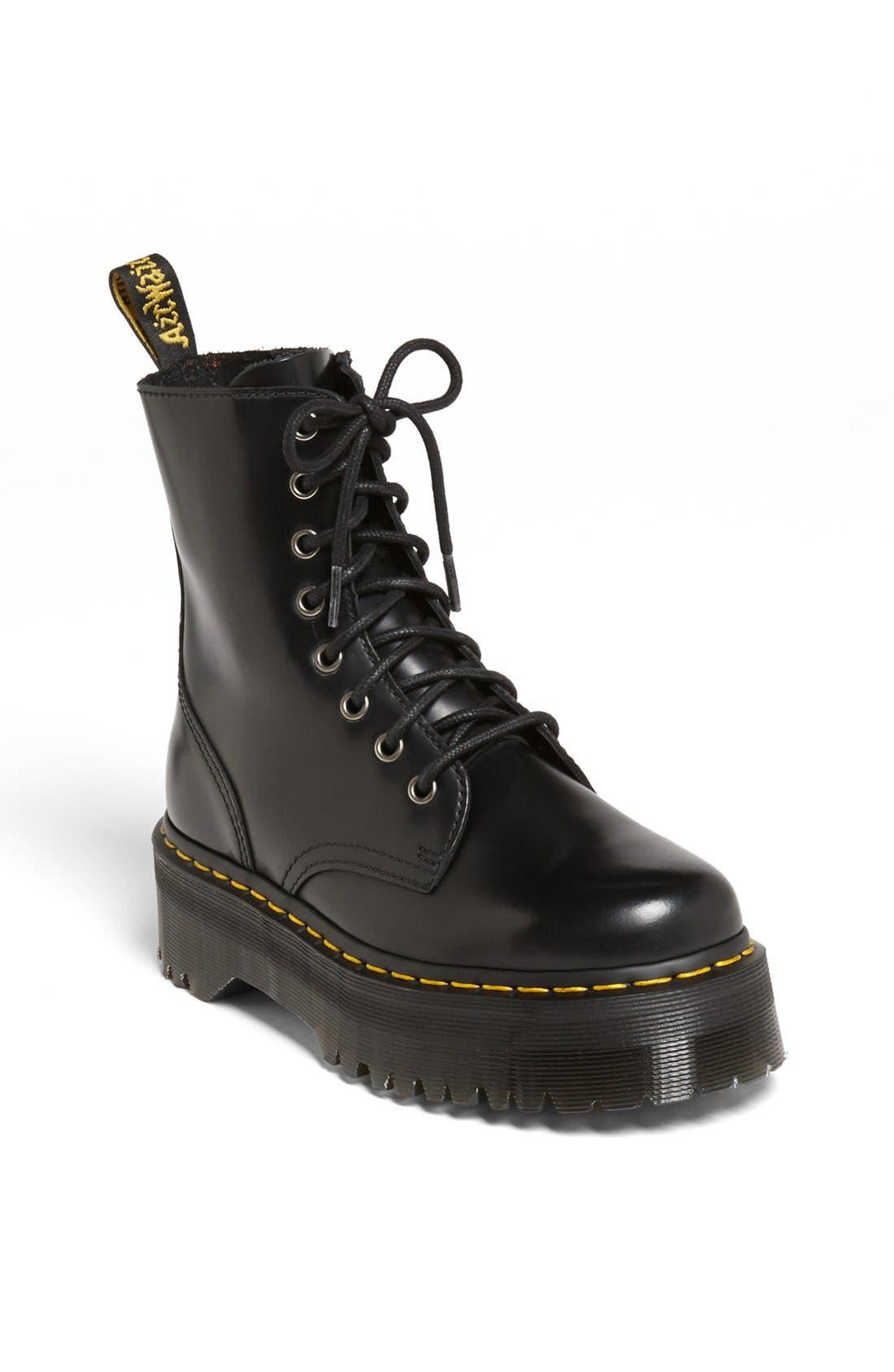 DR. MARTENS 'Jadon' Boot, Main, color, BLACK