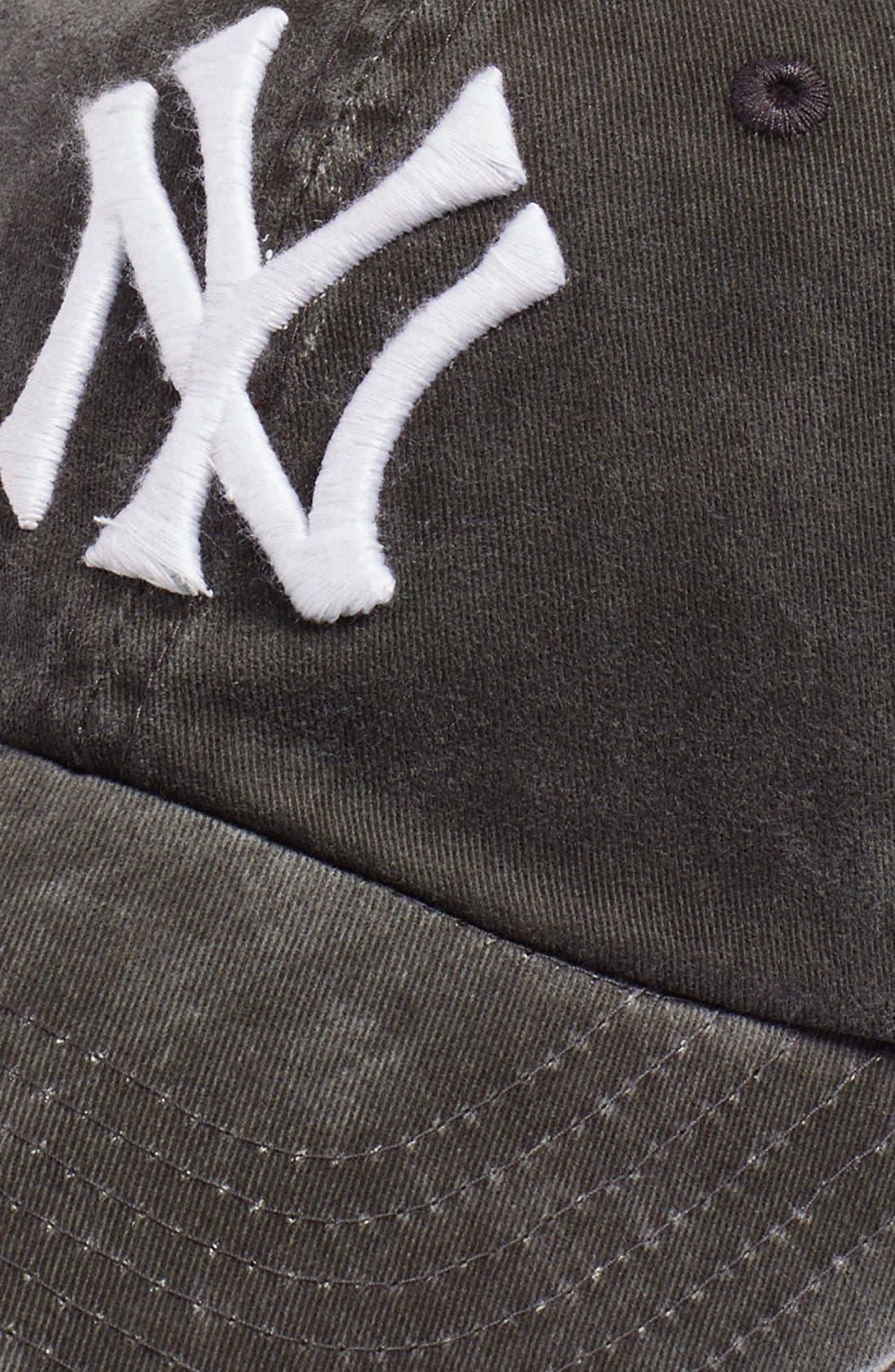 AMERICAN NEEDLE, New Raglan New York Yankees Baseball Cap, Alternate thumbnail 3, color, 001