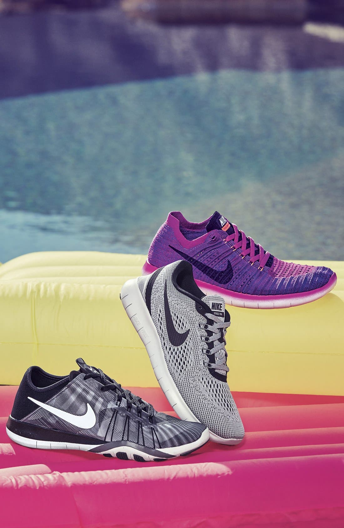 NIKE, Free RN Running Shoe, Main thumbnail 1, color, 002