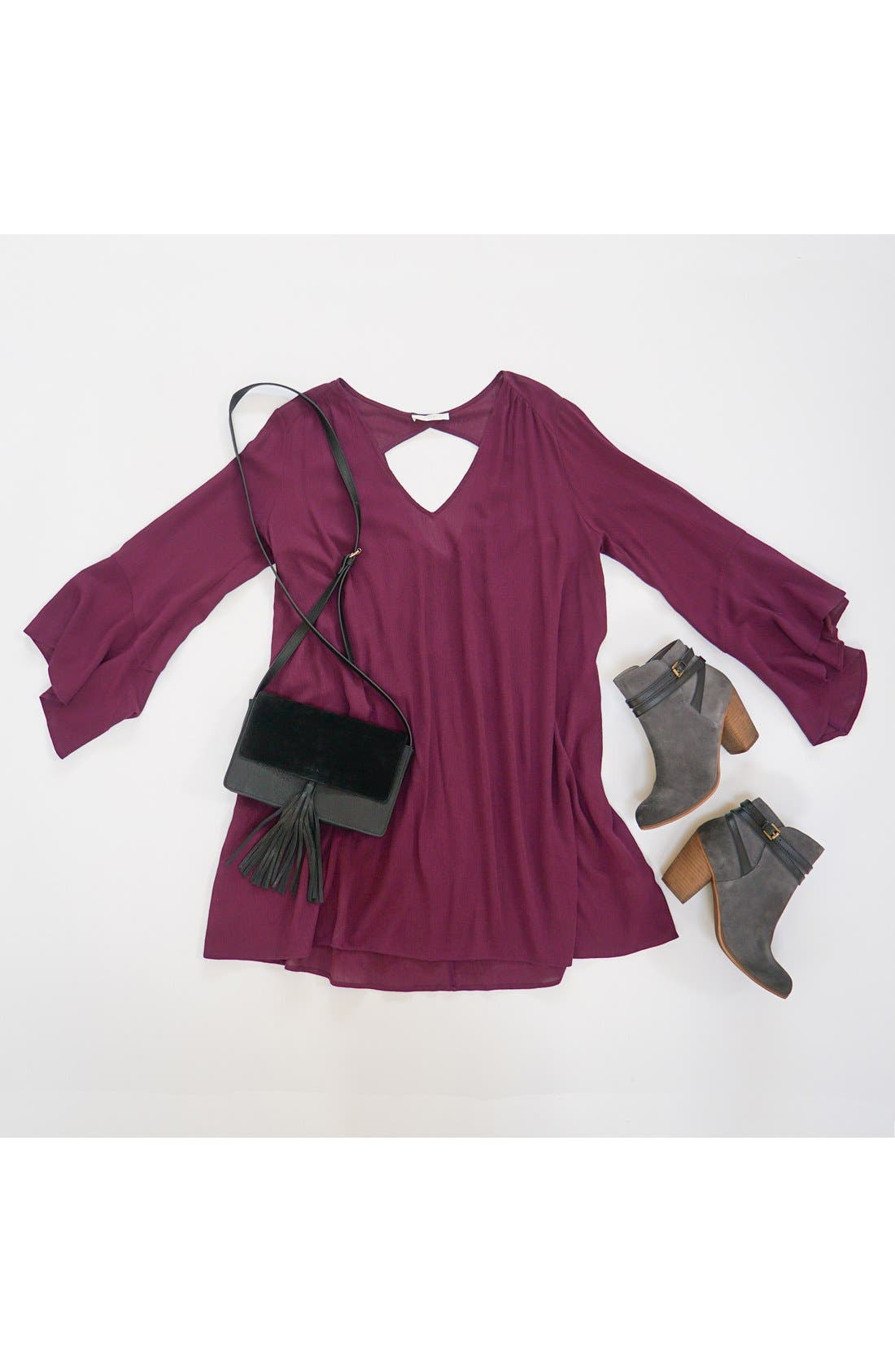 BP. Tassel Faux Leather Crossbody Bag, Main, color, 285