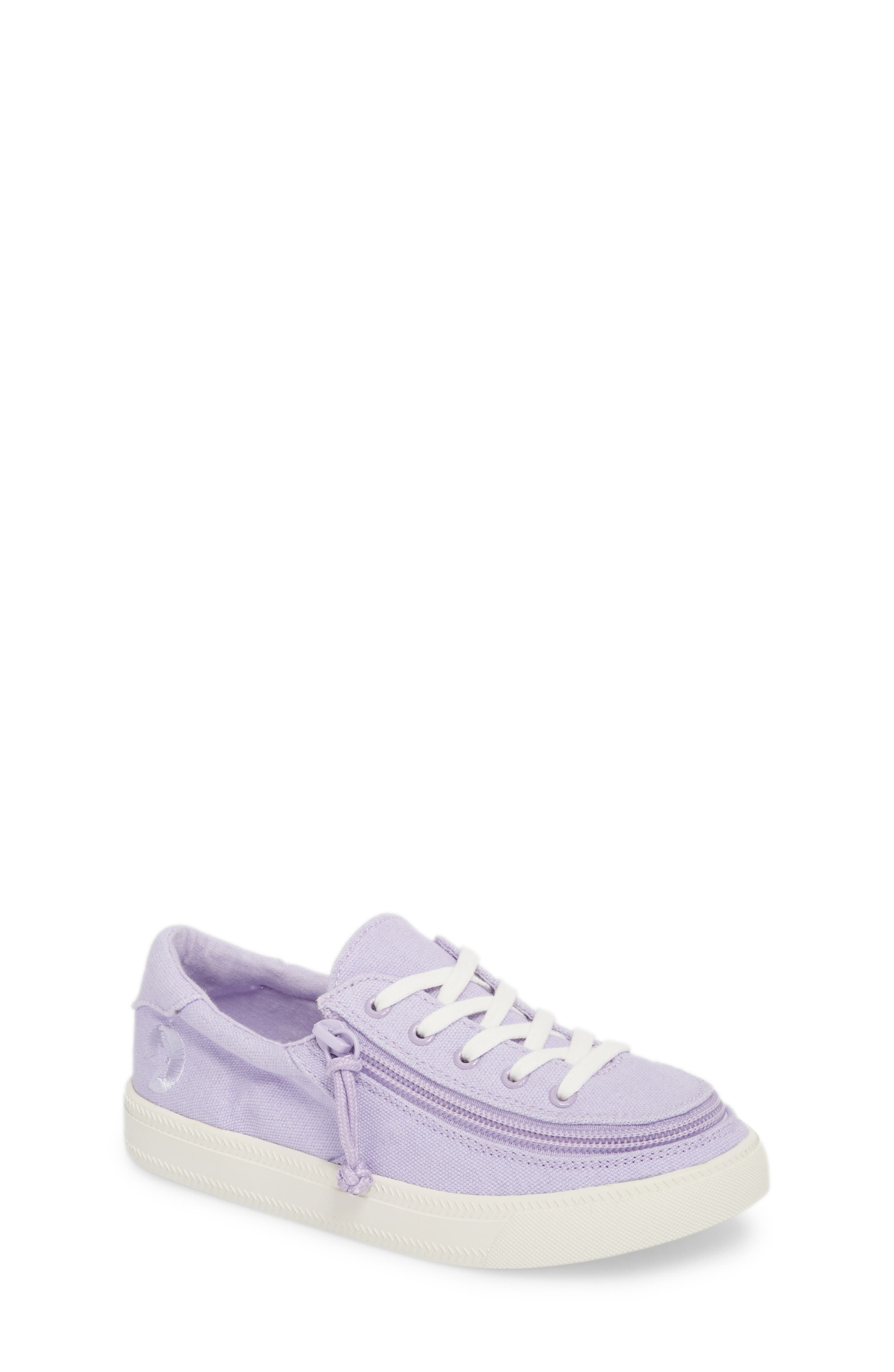 BILLY FOOTWEAR, Classic Zip Around Low Top Sneaker, Main thumbnail 1, color, LAVENDER