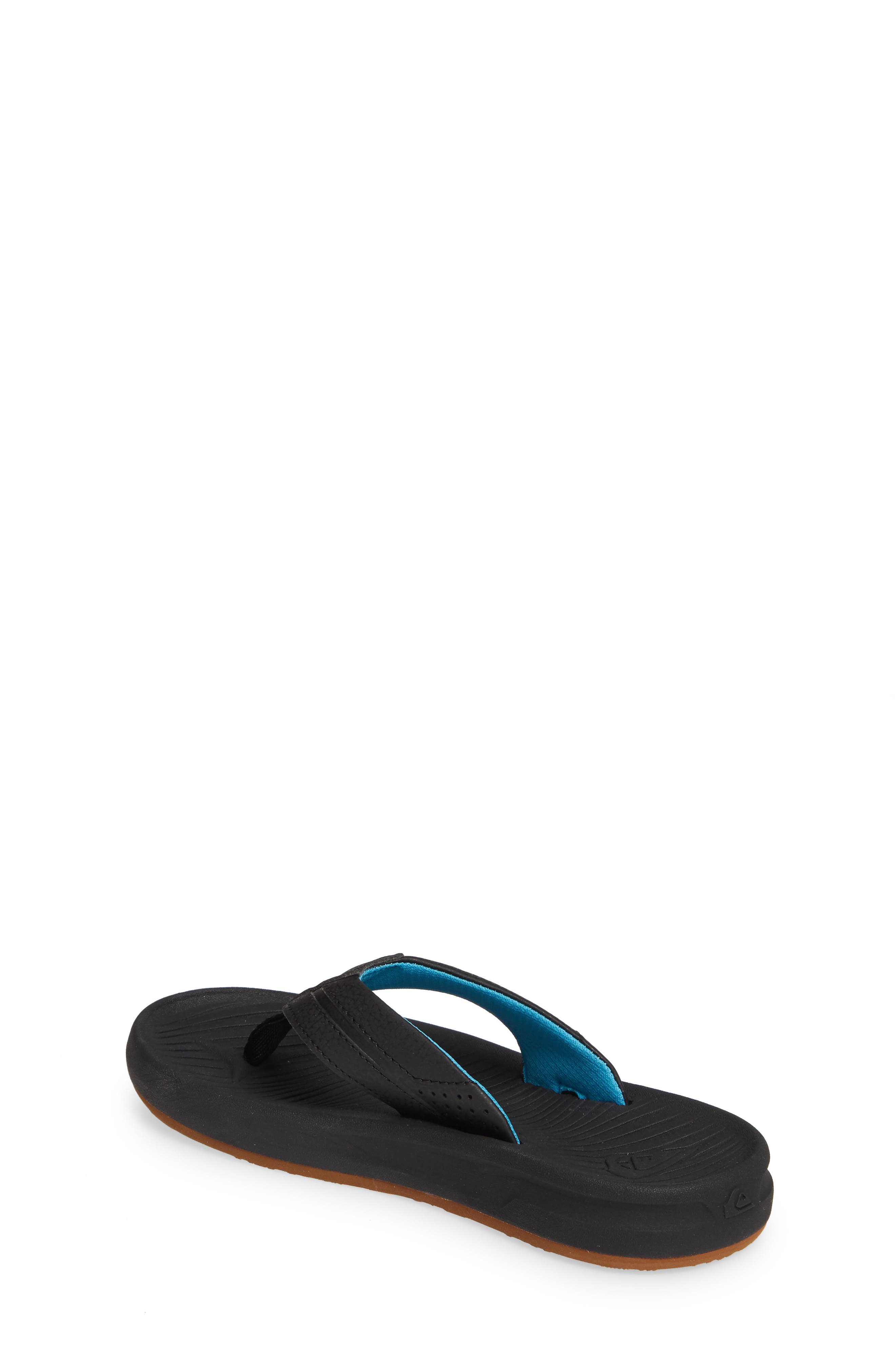 QUIKSILVER, Oasis Flip Flop, Alternate thumbnail 2, color, BLACK/ BLACK/ BROWN