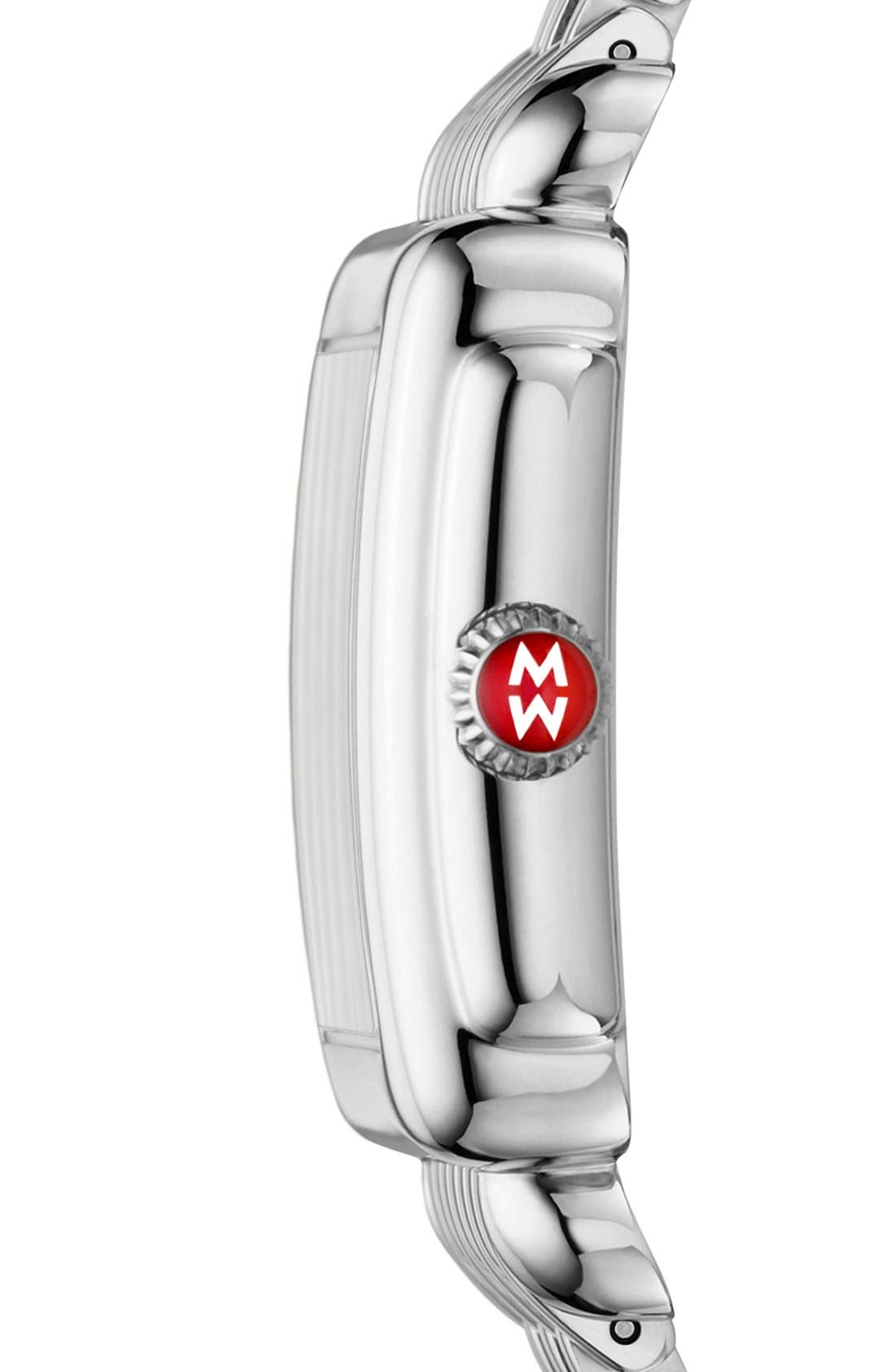 MICHELE, Deco 16 16mm Bracelet Watchband, Alternate thumbnail 8, color, SILVER