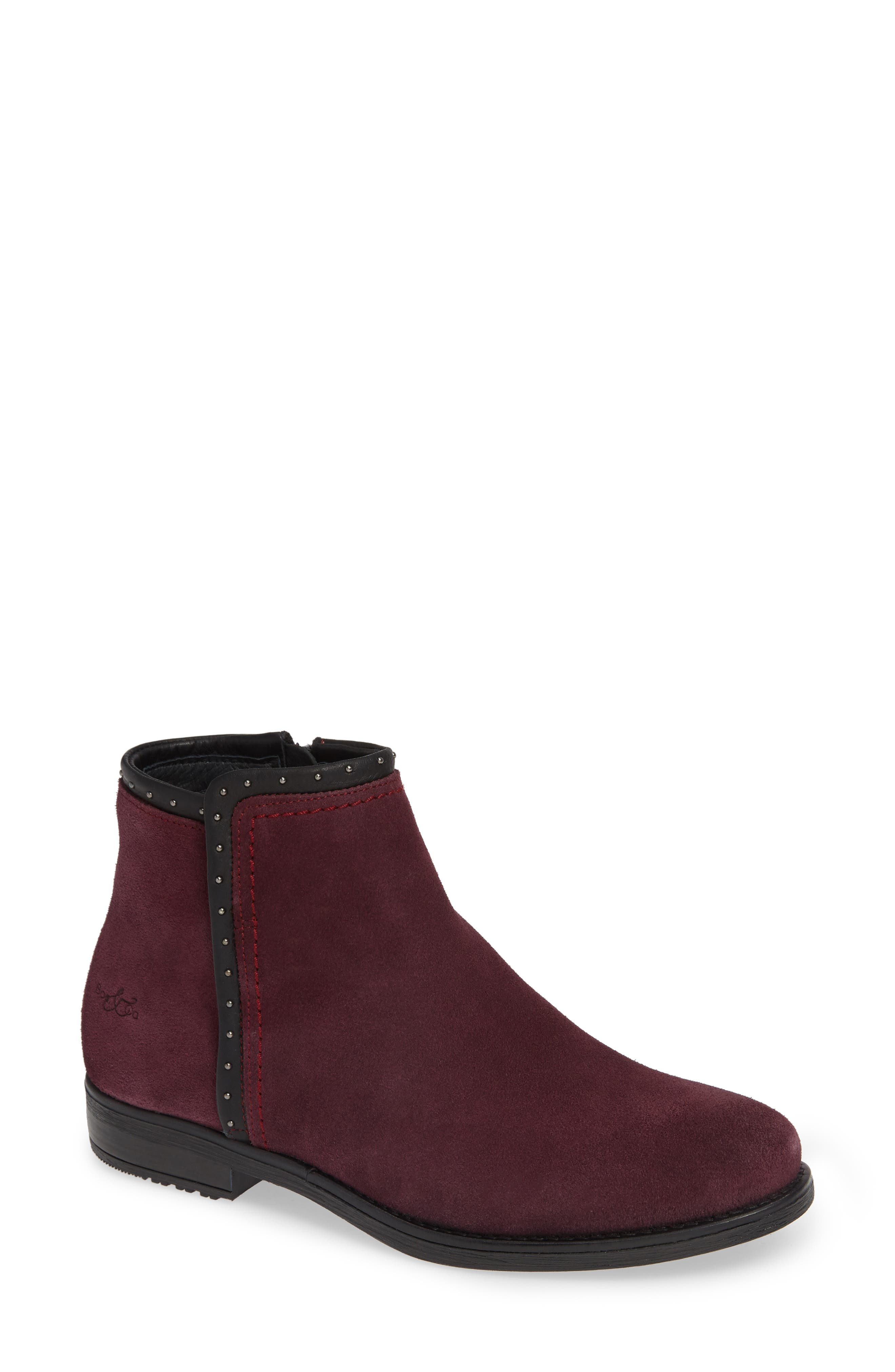 BOS. & CO., Ribos Bootie, Main thumbnail 1, color, PRUNE SUEDE