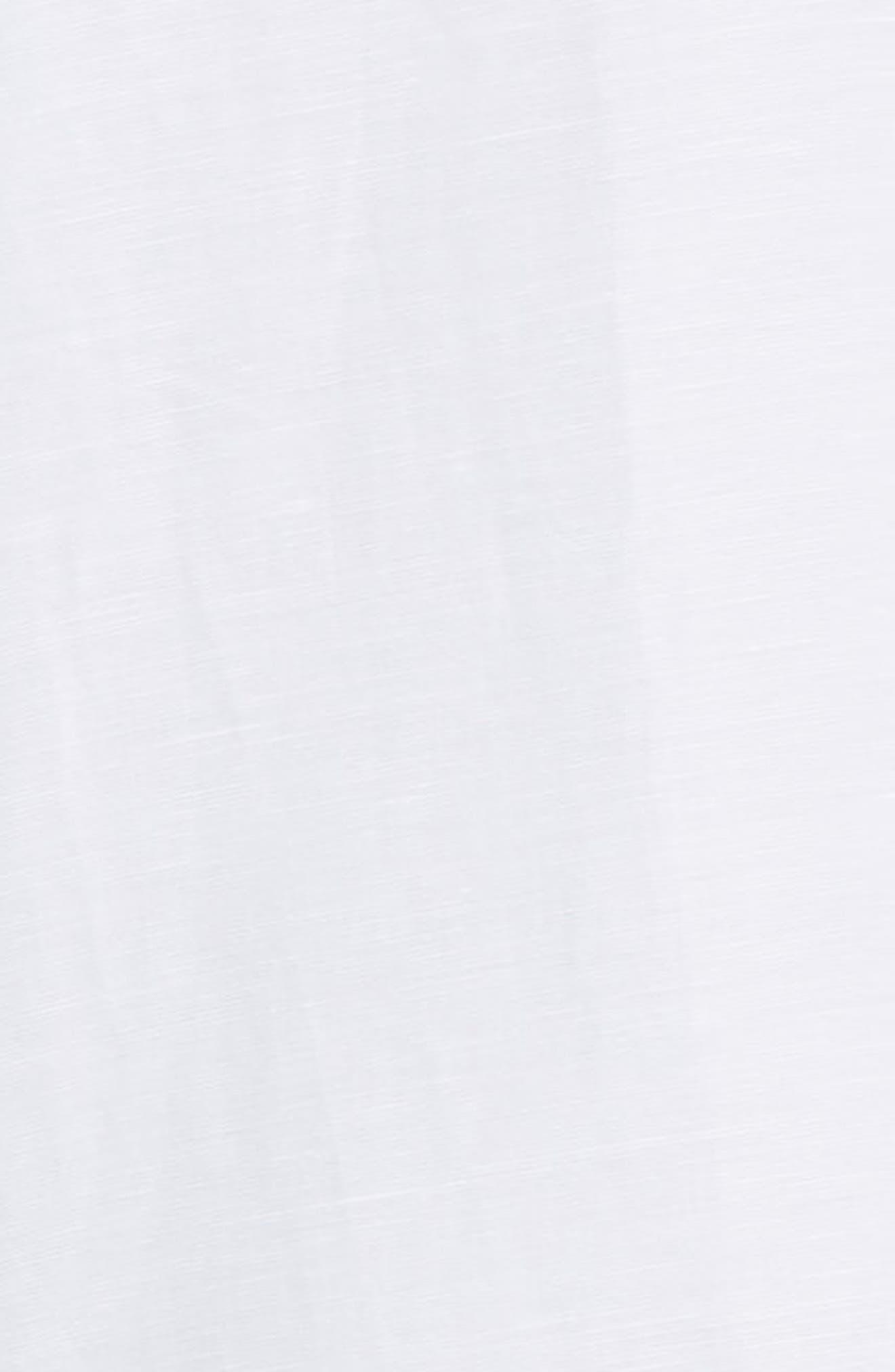 TED BAKER LONDON, Graphit Slim Fit Cotton & Linen Sport Shirt, Alternate thumbnail 6, color, GREY