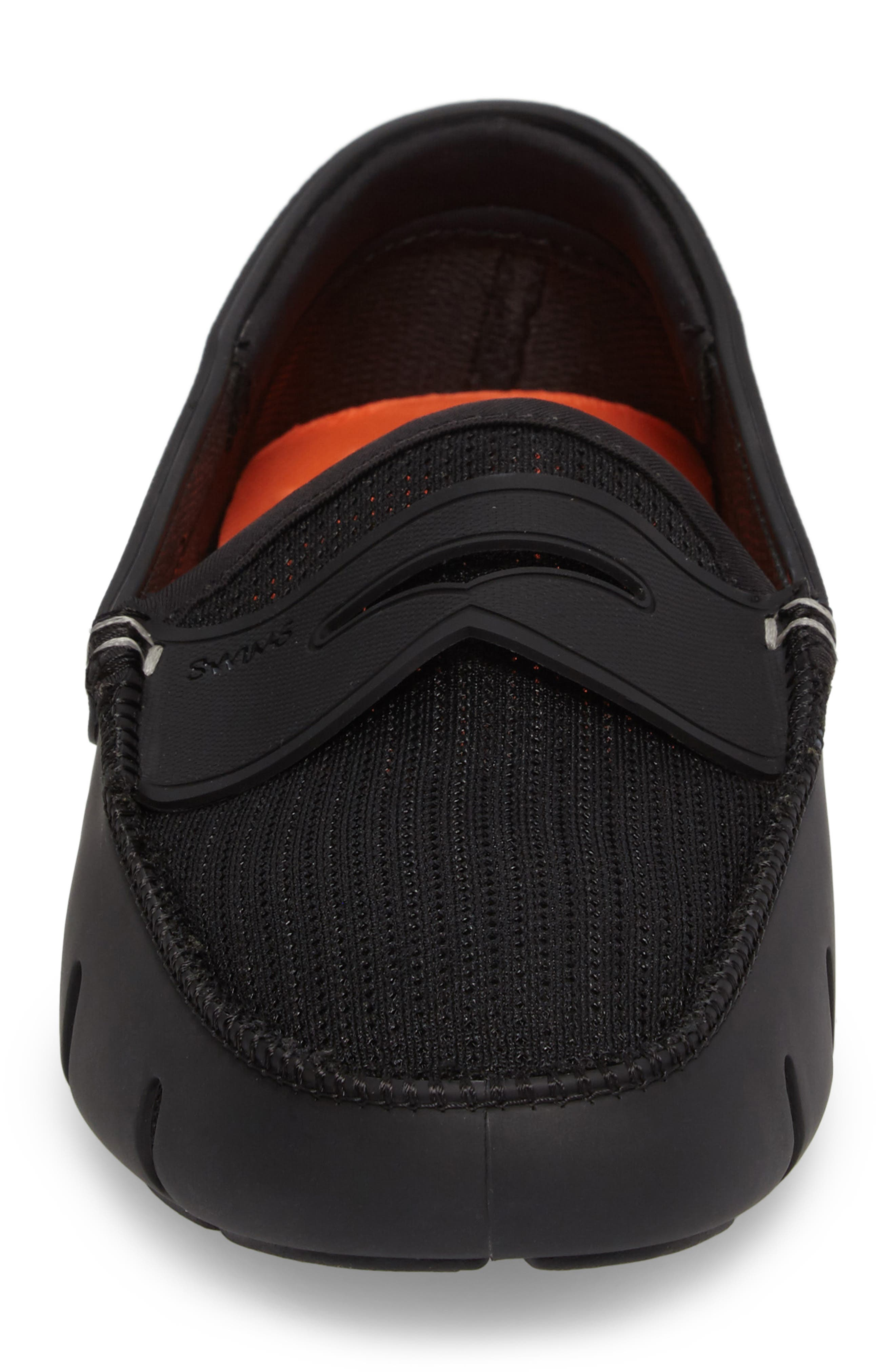 SWIMS, Penny Loafer, Alternate thumbnail 4, color, BLACK/BLACK