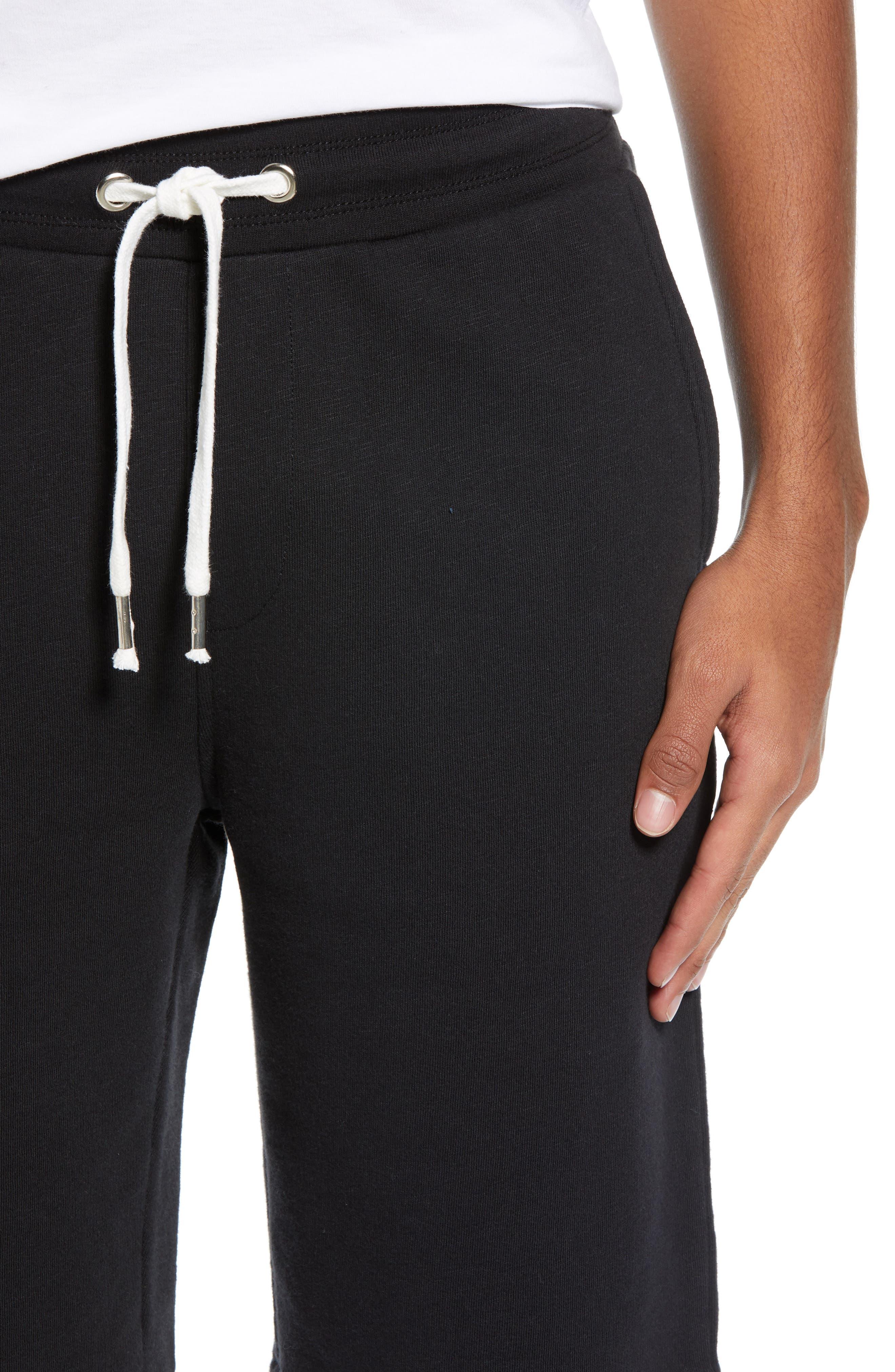 THE RAIL, Terry Athletic Shorts, Alternate thumbnail 4, color, BLACK ROCK
