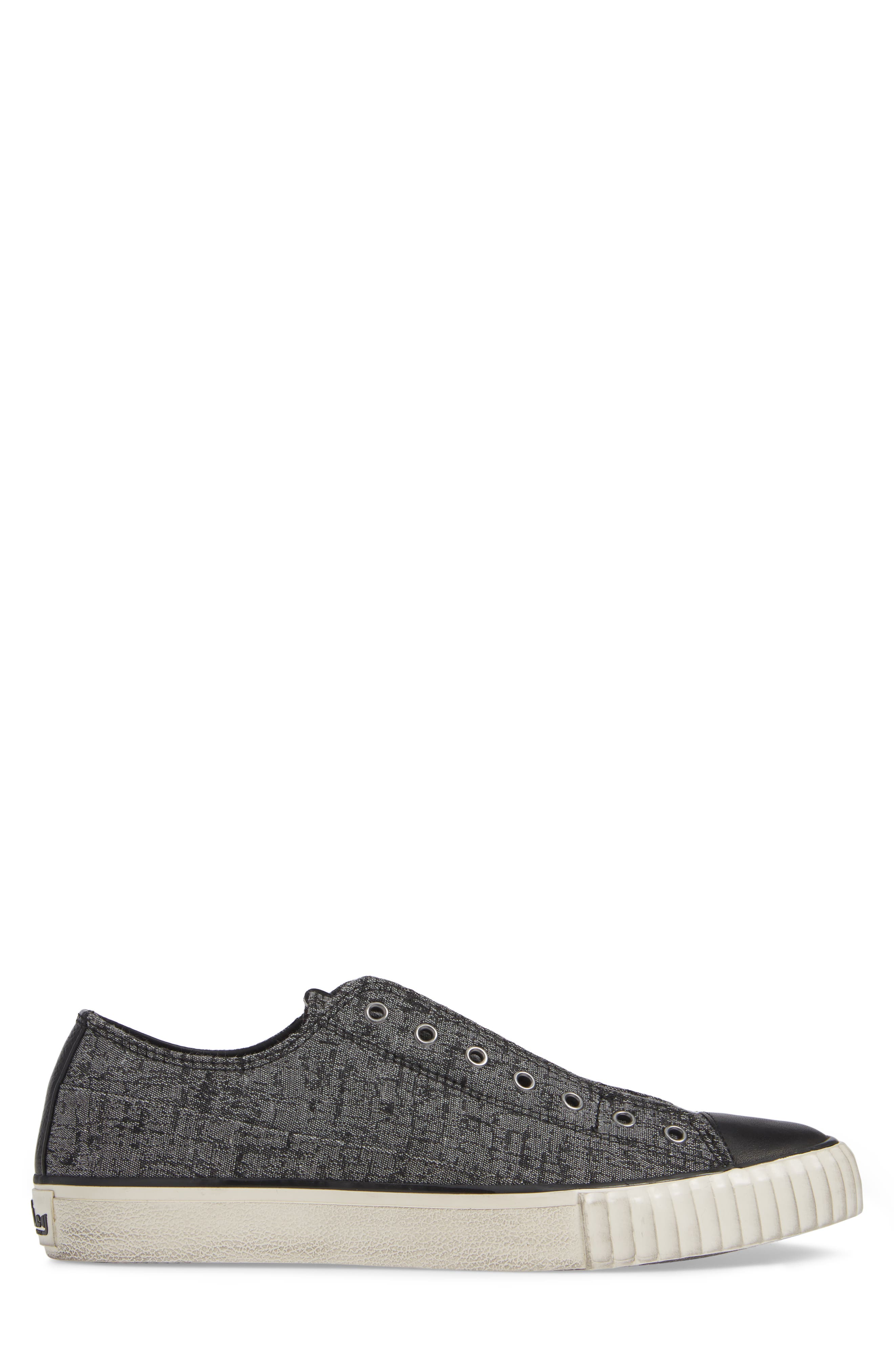 BOOTLEG BY JOHN VARVATOS, John Varvatos Star USA Bootleg Laceless Sneaker, Alternate thumbnail 3, color, STONE GREY CANVAS