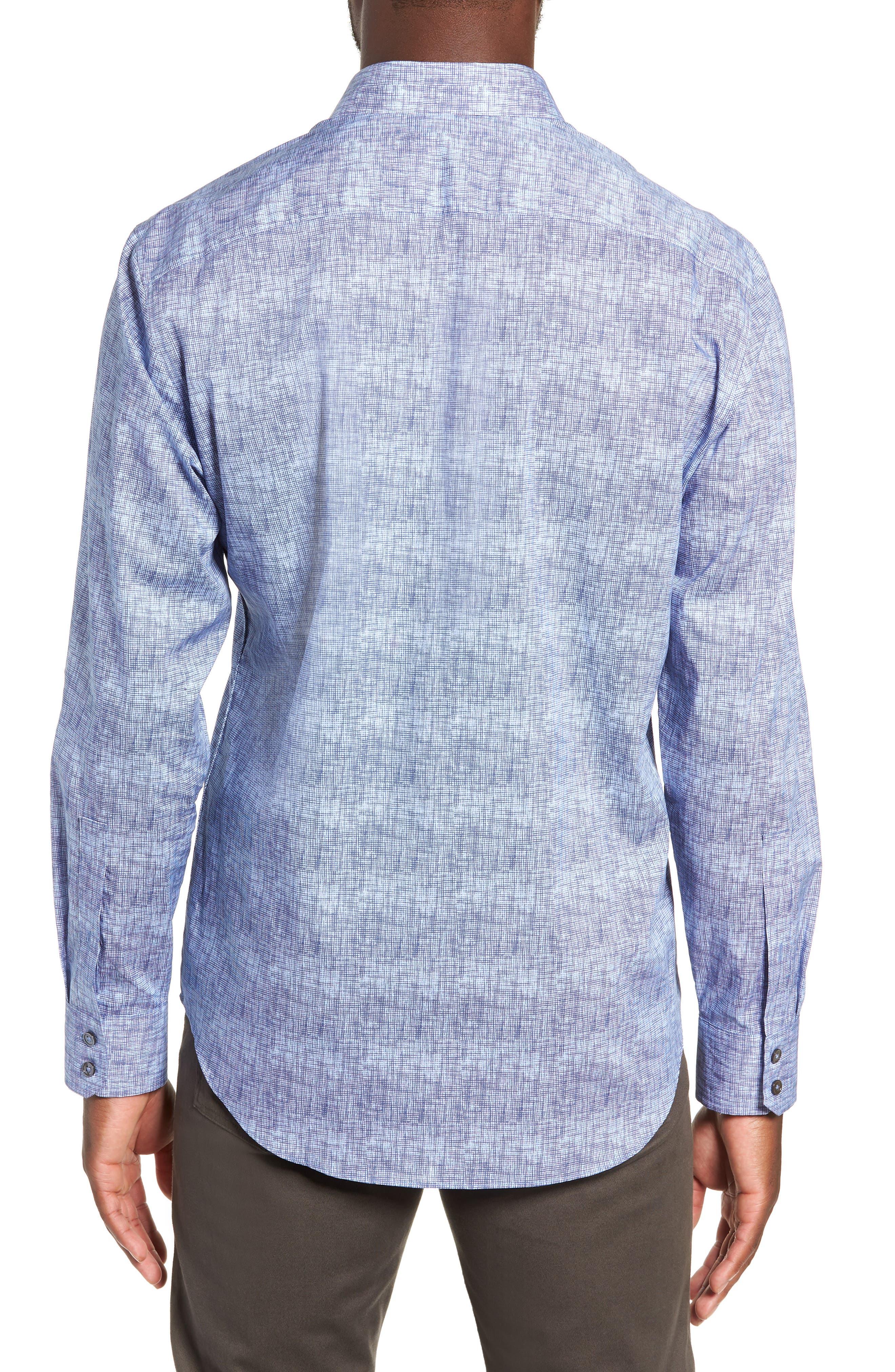 ZACHARY PRELL, Oppong Regular Fit Sport Shirt, Alternate thumbnail 3, color, 400