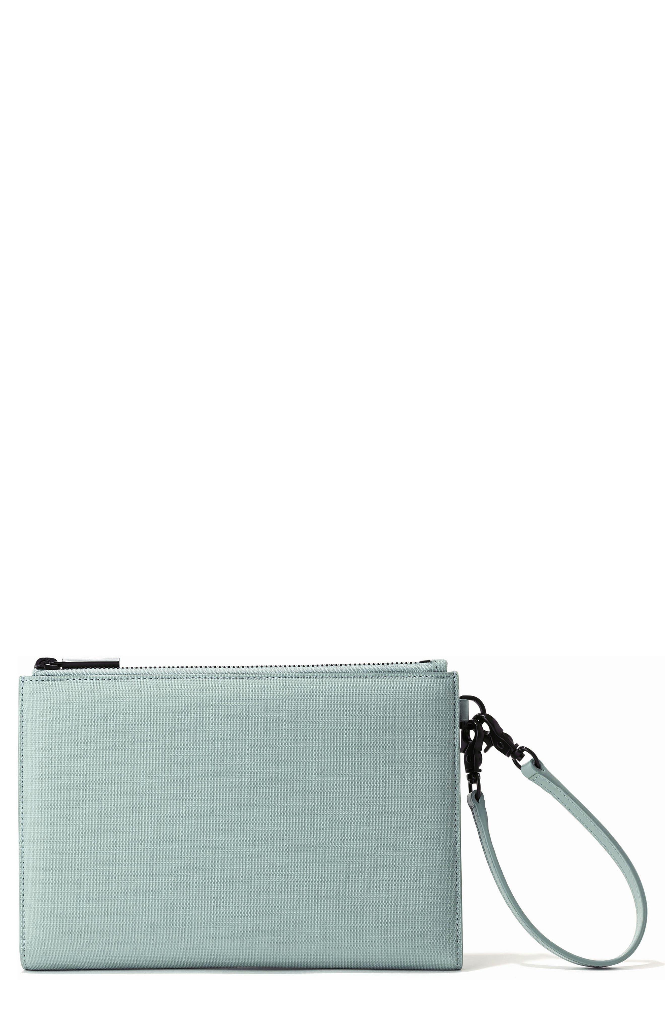 DAGNE DOVER Signature Essentials Coated Canvas Clutch/Wallet, Main, color, SEA MIST