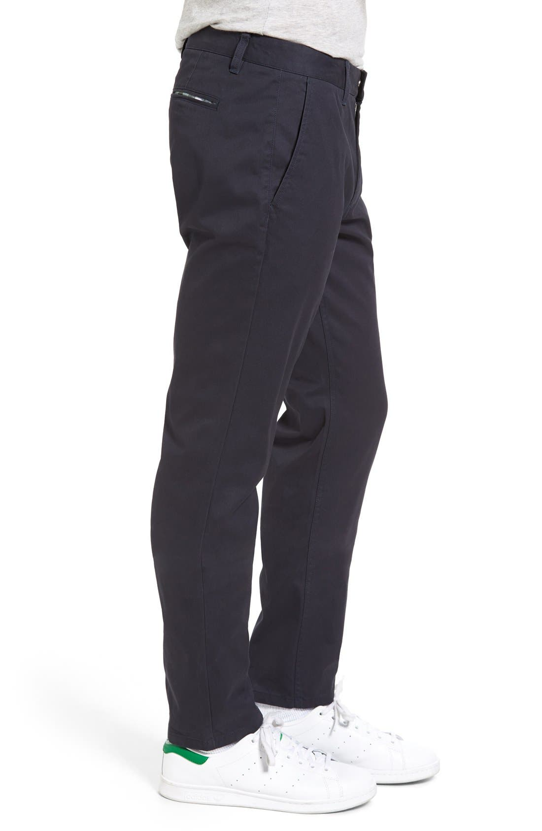 BONOBOS, Straight Fit Washed Chinos, Alternate thumbnail 7, color, JET BLUE