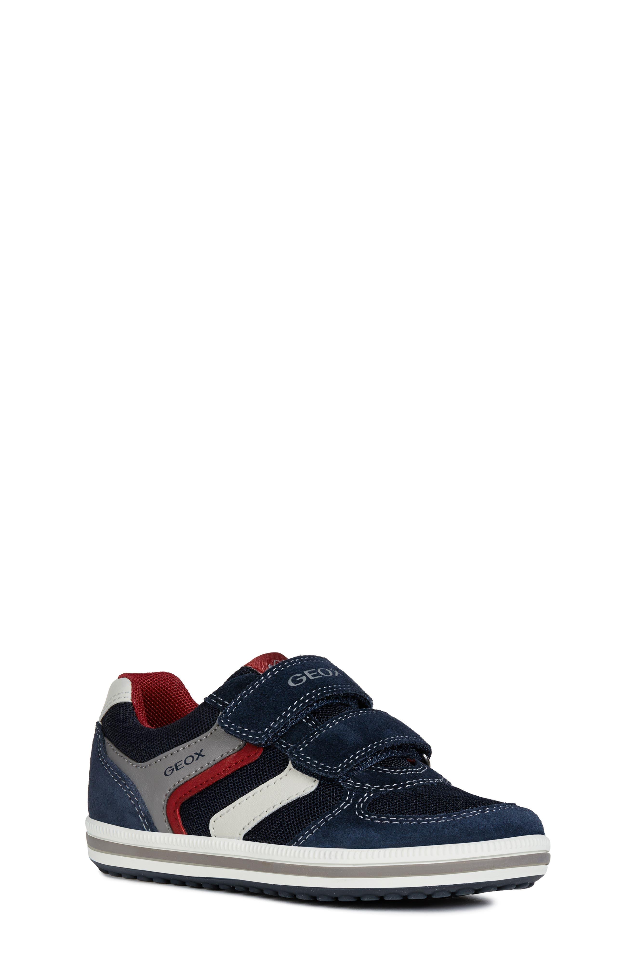 GEOX 'Vita' Sneaker, Main, color, NAVY/ RED