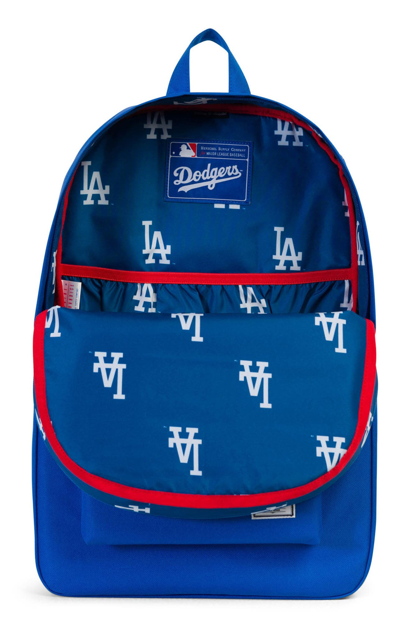 HERSCHEL SUPPLY CO., Heritage MLB Backpack, Alternate thumbnail 4, color, LOS ANGELES DODGERS