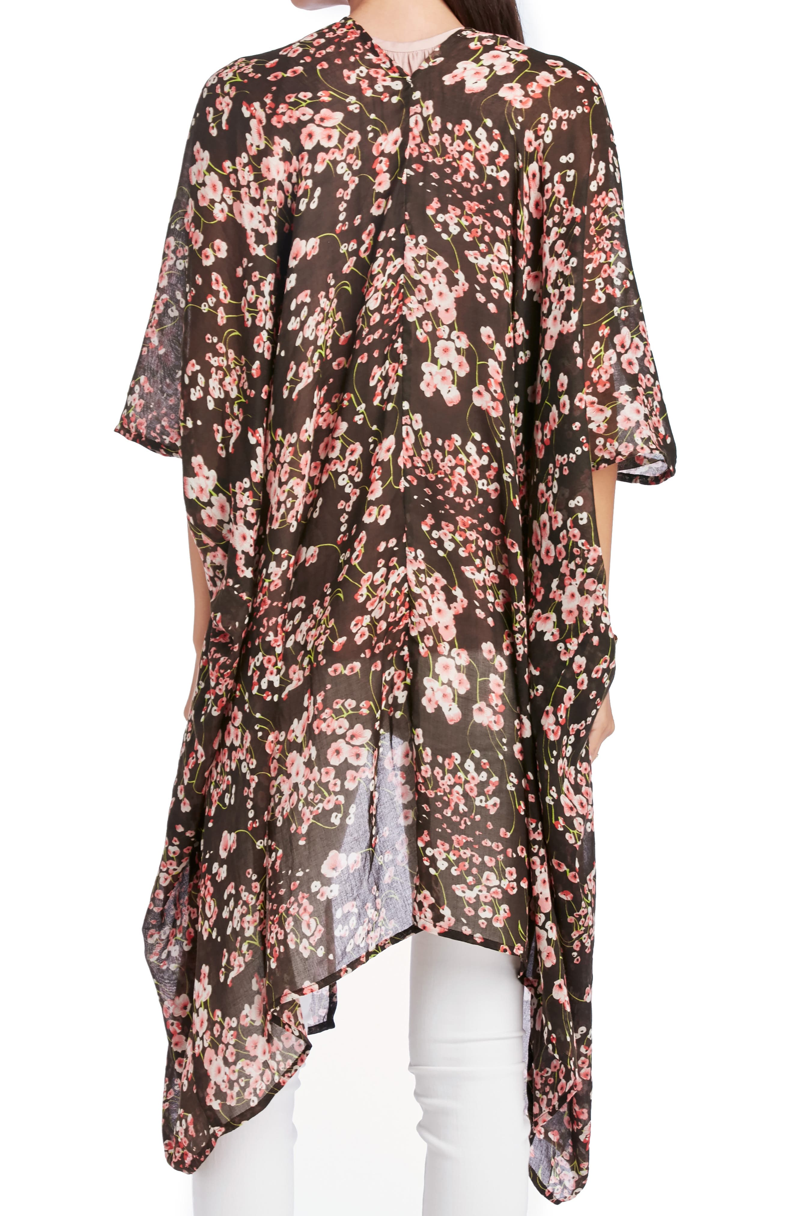 SOLE SOCIETY, Cherry Blossom Kimono, Alternate thumbnail 2, color, 002