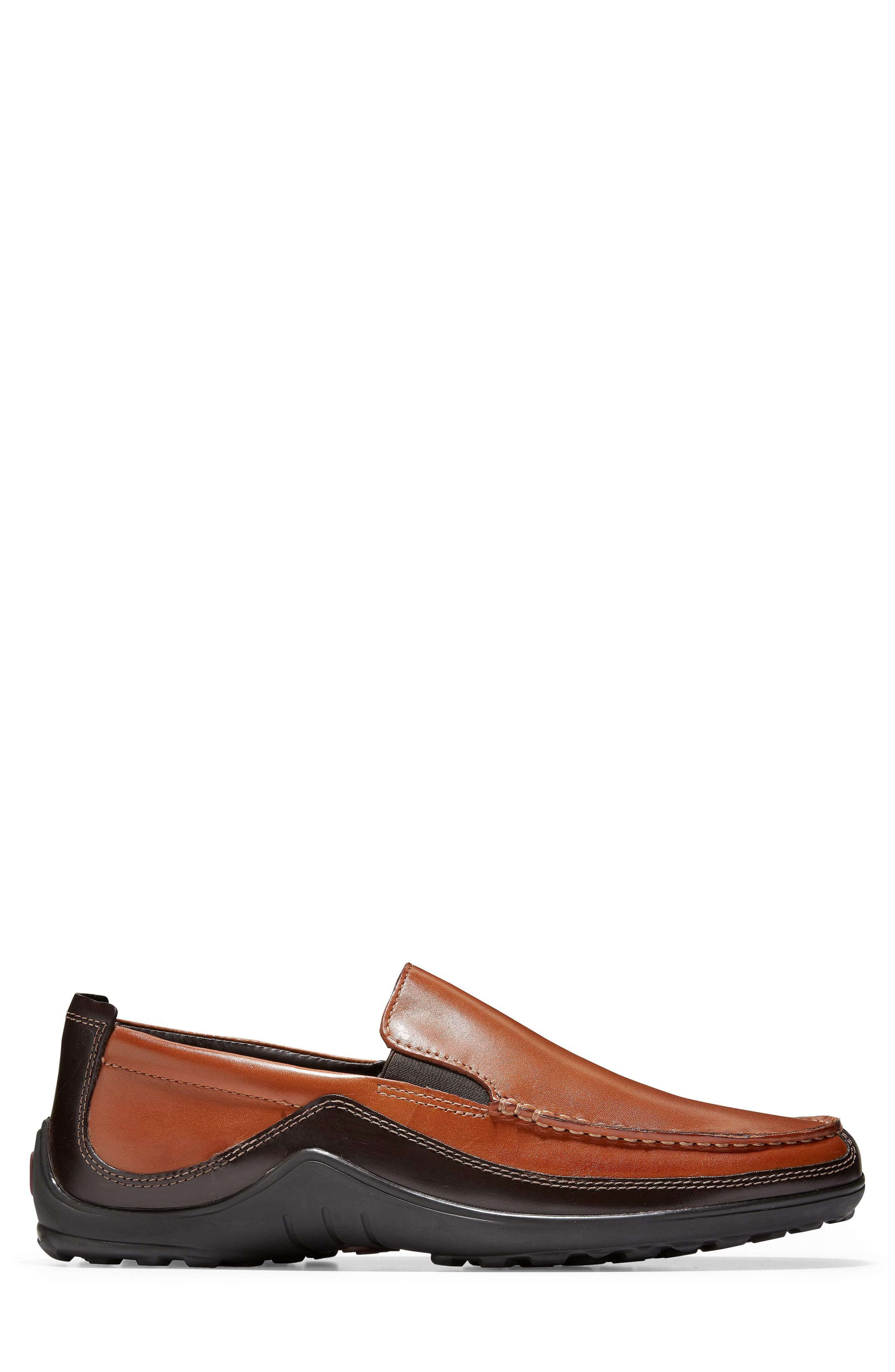 COLE HAAN, 'Tucker Venetian' Loafer, Alternate thumbnail 4, color, TAN