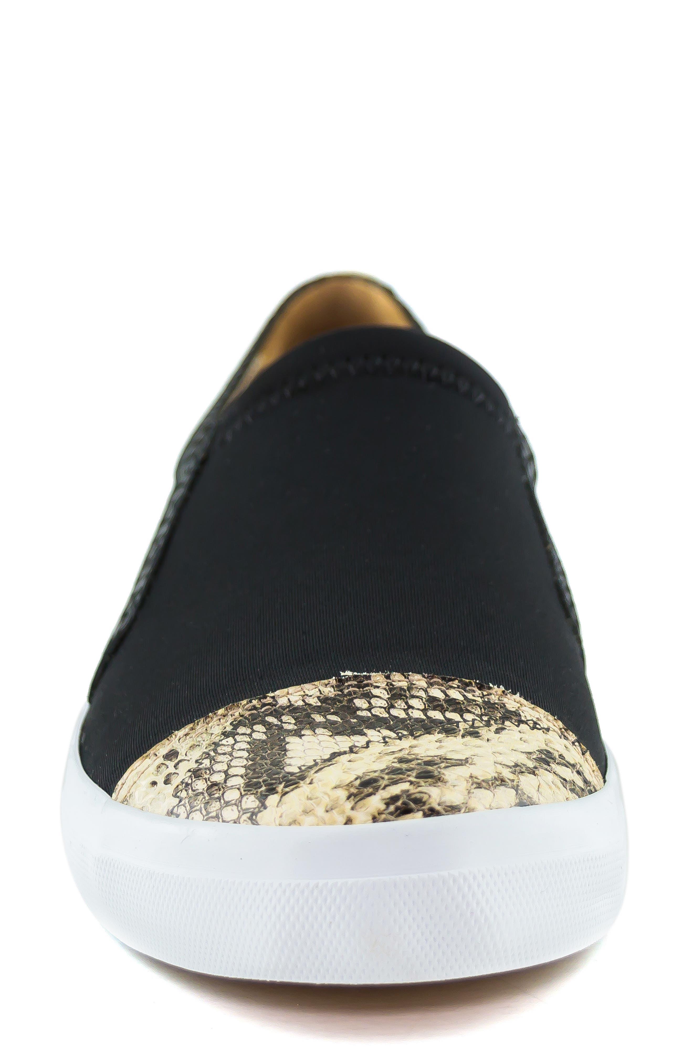 MARC JOSEPH NEW YORK, Jay Street Sneaker, Alternate thumbnail 4, color, BLACK PATCHWORK