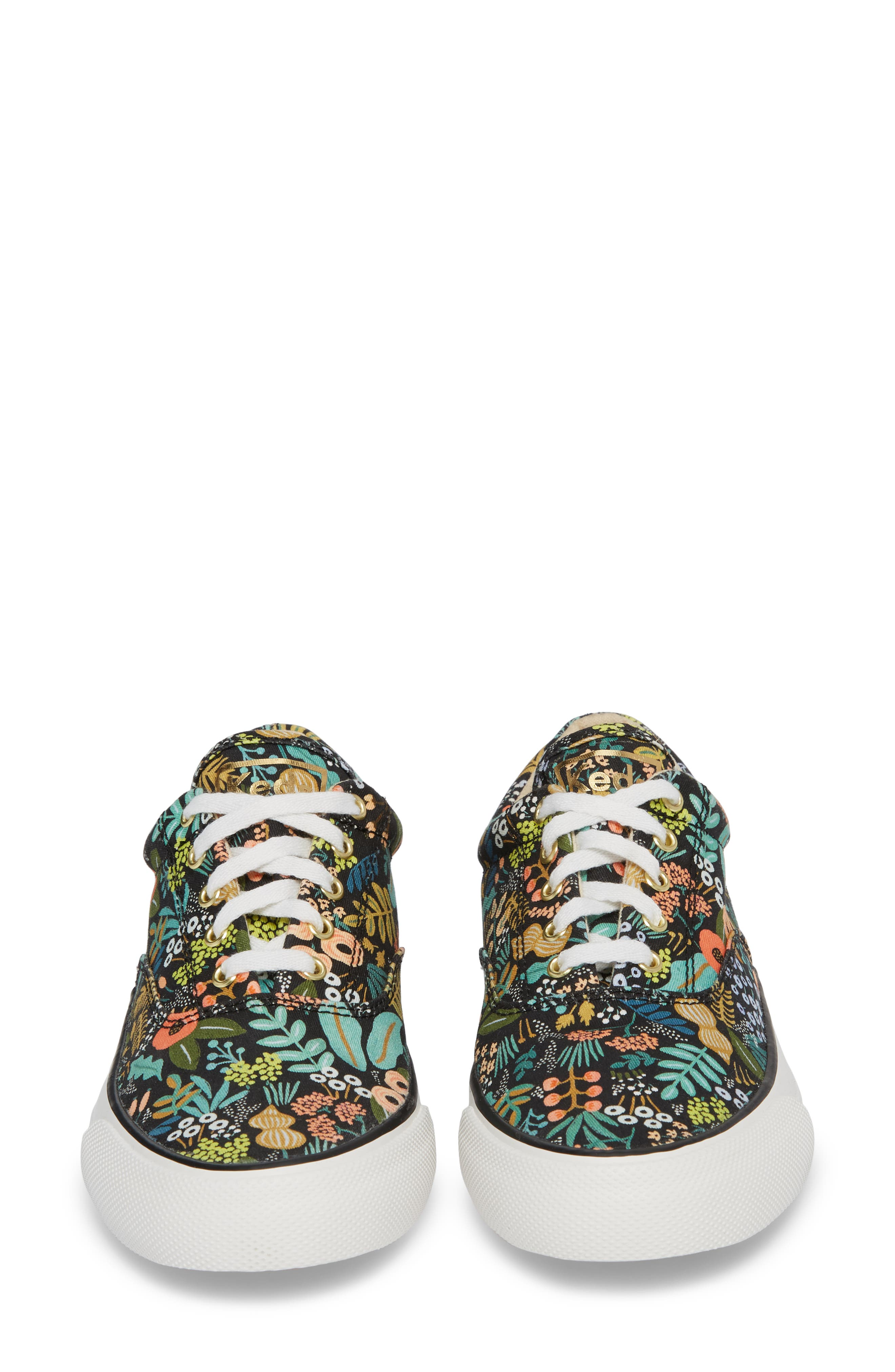 KEDS<SUP>®</SUP>, x Rifle Paper Co. Anchor Lively Floral Slip-On Sneaker, Alternate thumbnail 5, color, BLACK