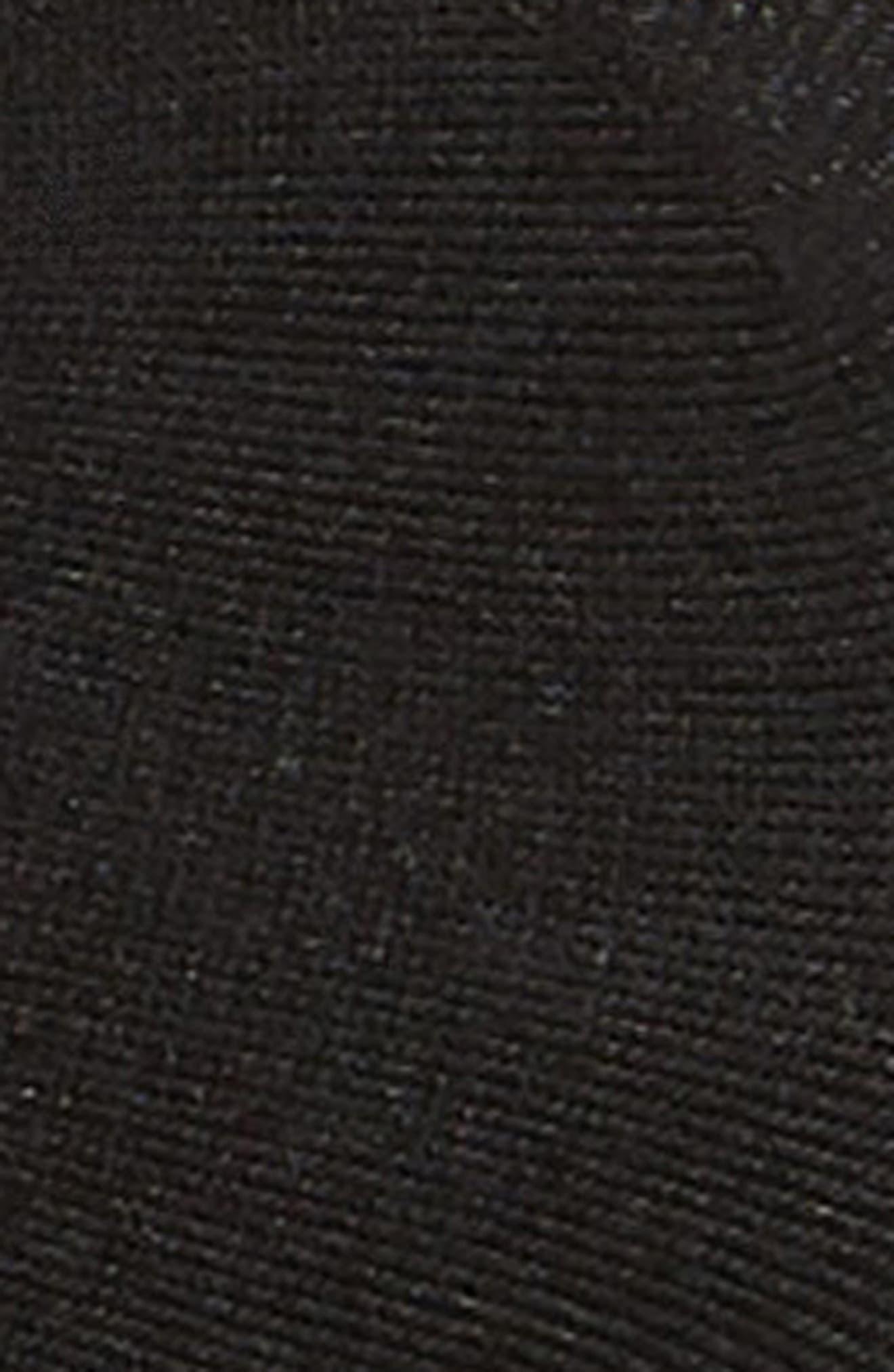 HUE, 3-Pack Shade Match Sock Liners, Alternate thumbnail 2, color, BLACK