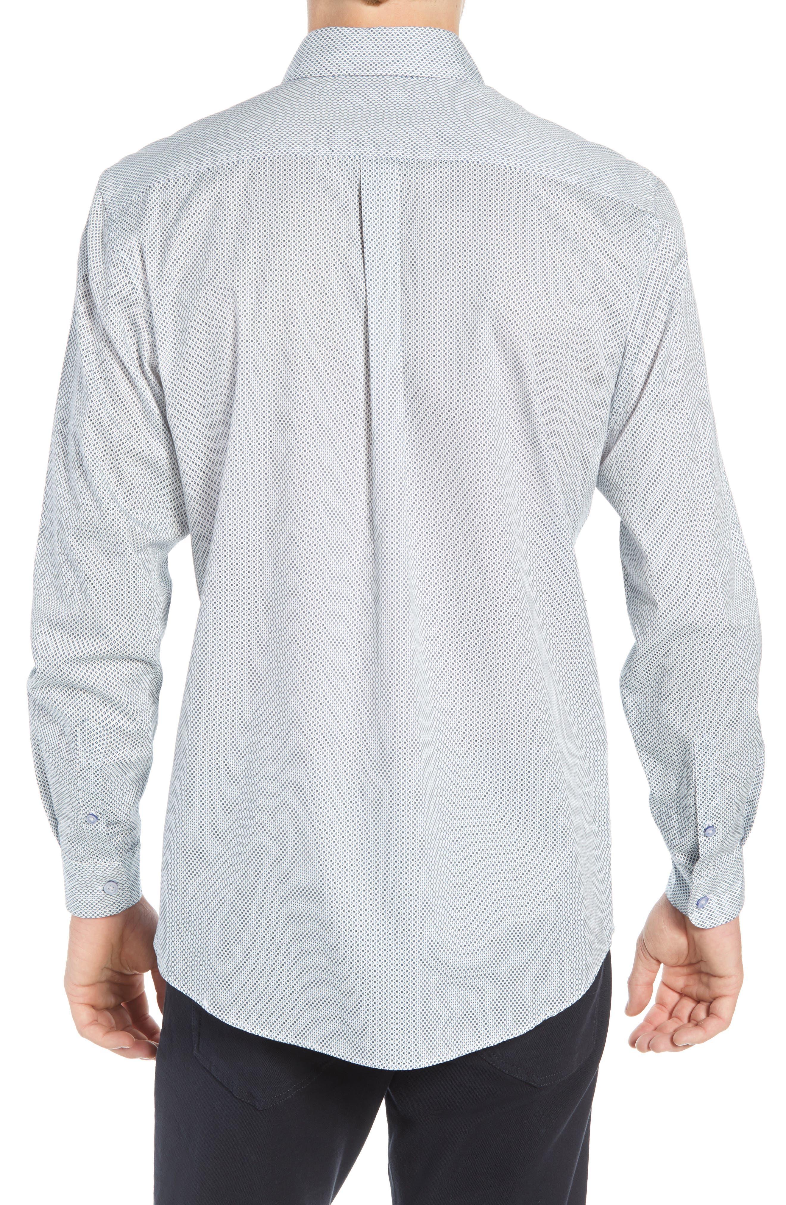 RODD & GUNN, Helston Way Regular Fit Sport Shirt, Alternate thumbnail 3, color, SNOW