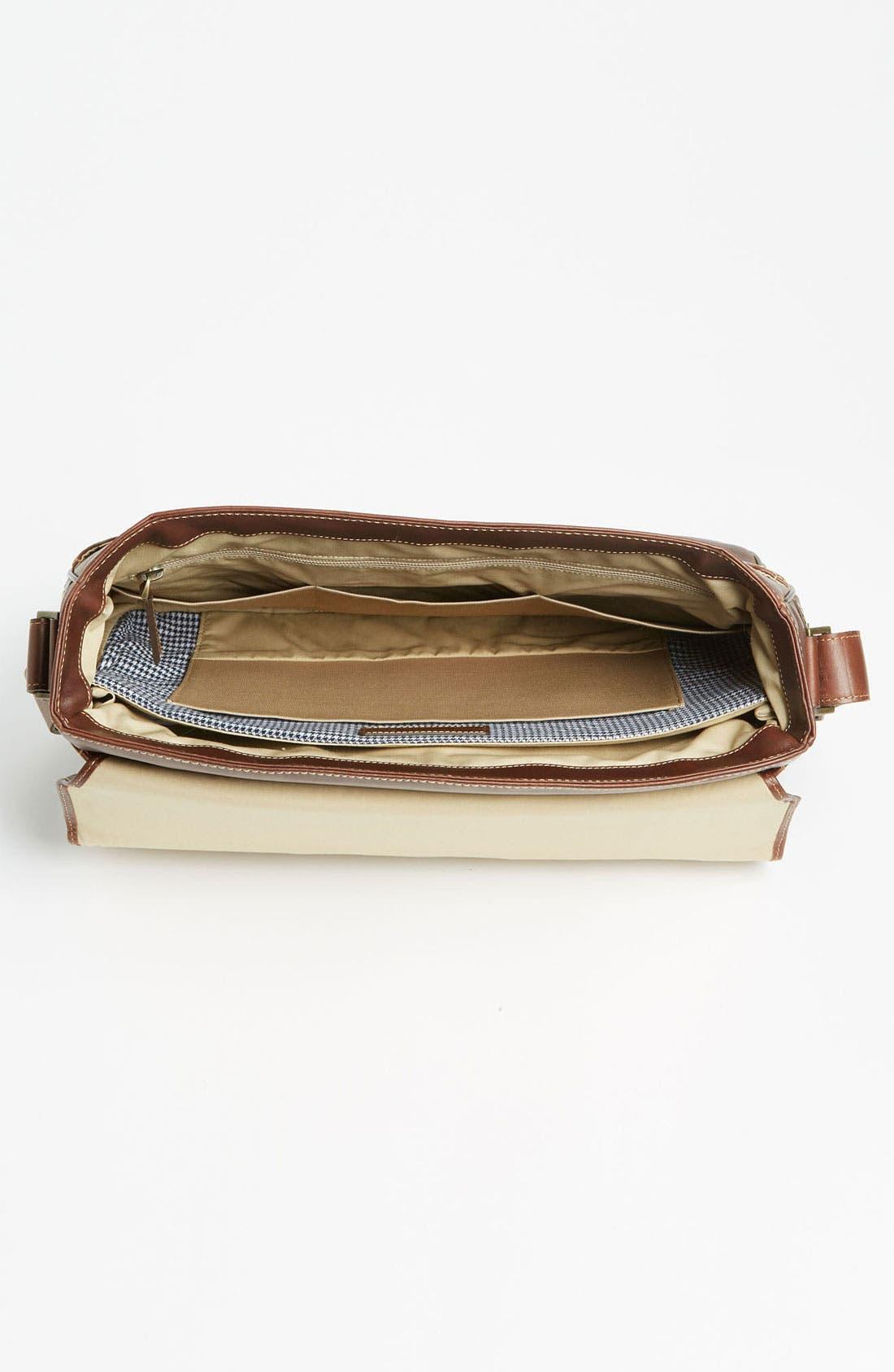 BOCONI, 'Bryant' Leather Briefcase, Alternate thumbnail 3, color, ANTIQUE MAHOGANY