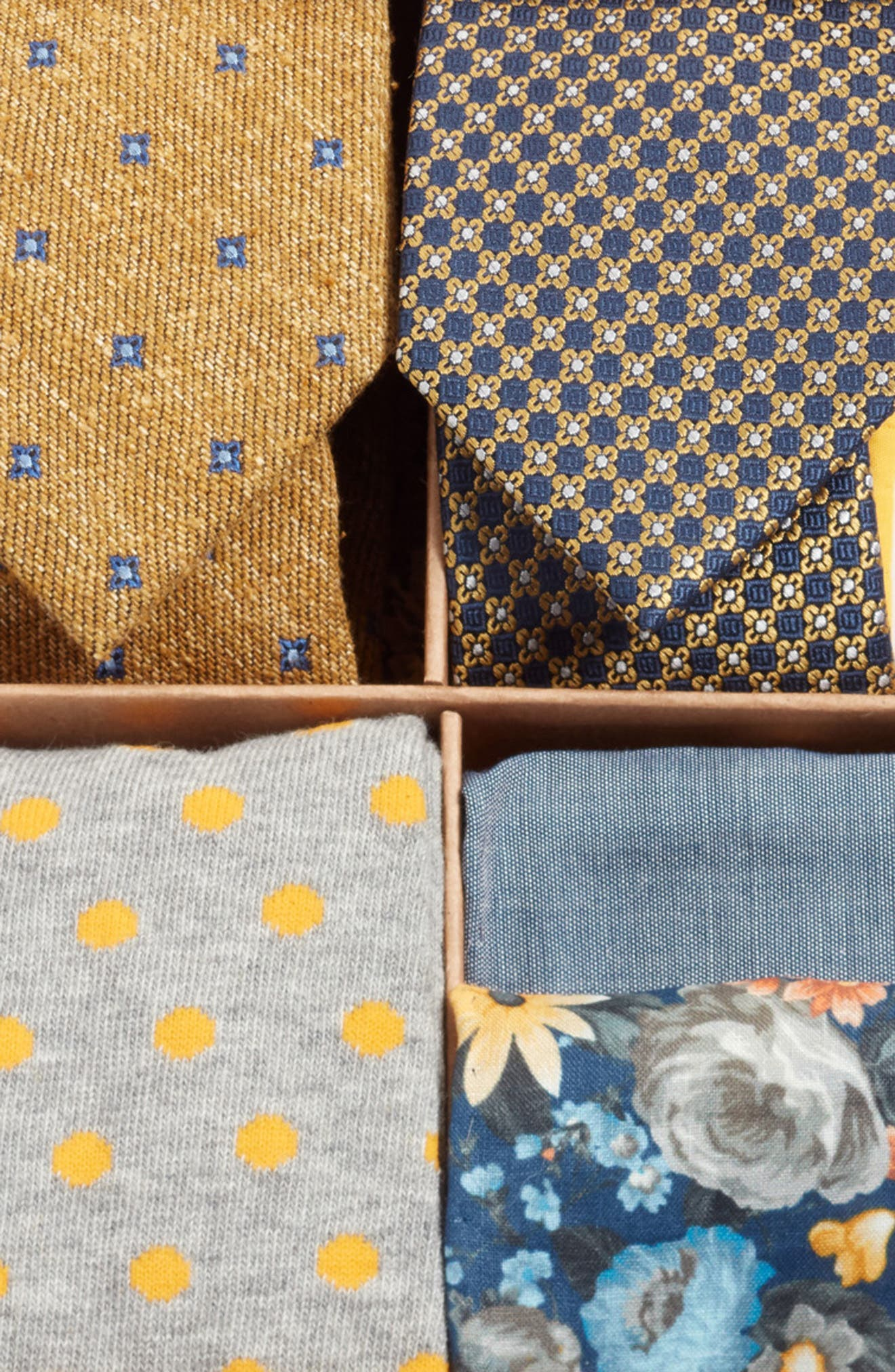 THE TIE BAR, Large Yellow Style Box, Alternate thumbnail 3, color, 700