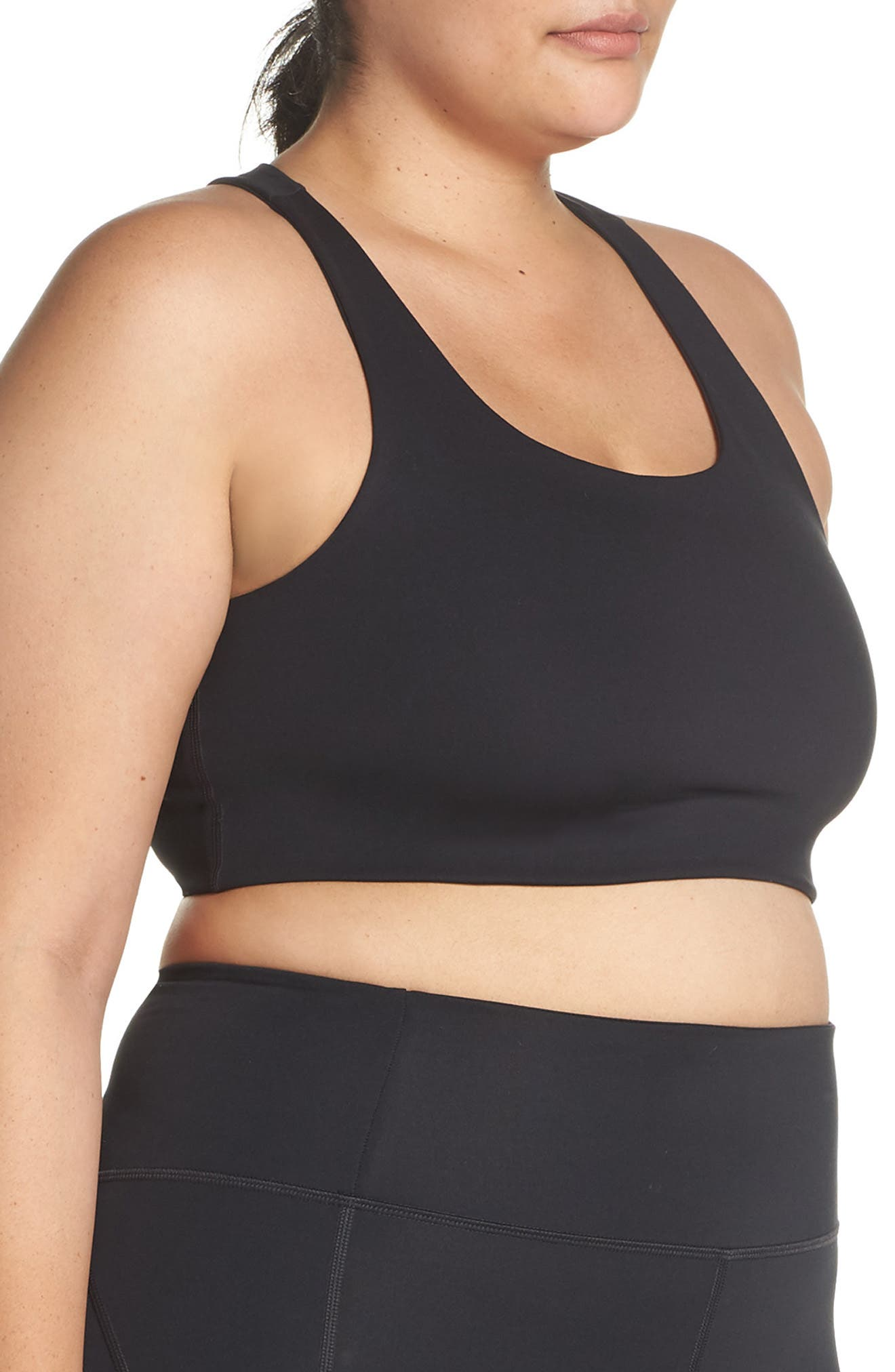 GIRLFRIEND COLLECTIVE, Cropped Paloma Sports Bra, Alternate thumbnail 10, color, 001