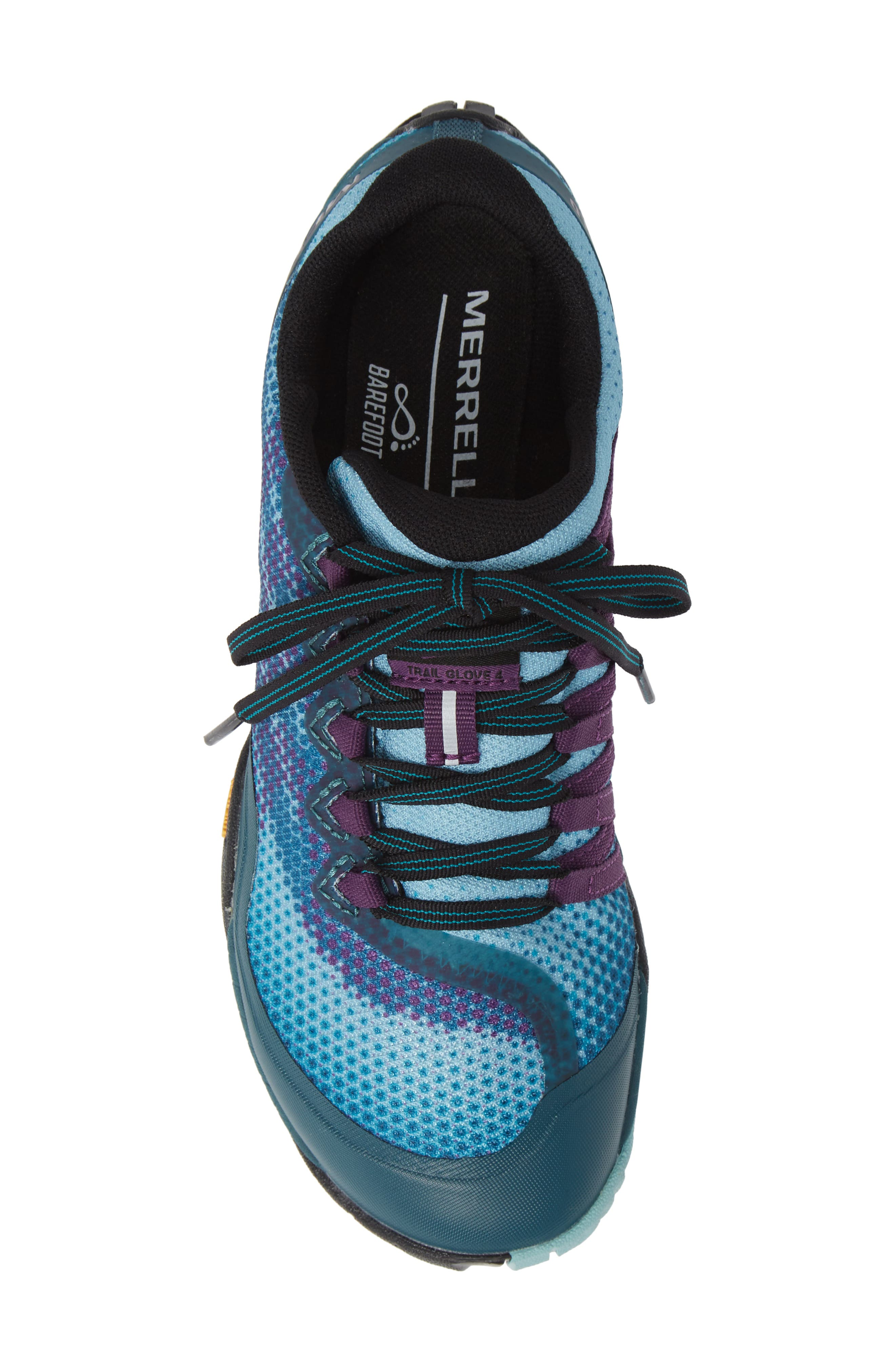 MERRELL, Trail Glove 4 Shield Water Resistant Running Shoe, Alternate thumbnail 5, color, 400