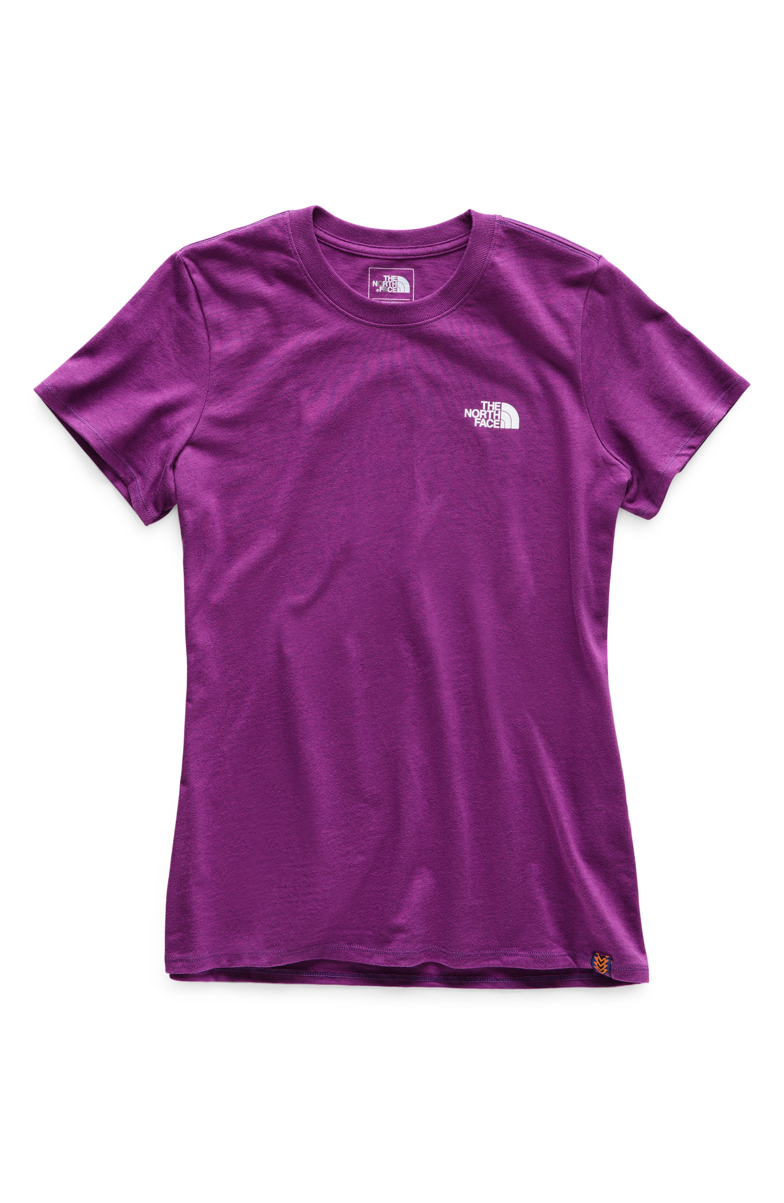THE NORTH FACE, Red Box Tee, Alternate thumbnail 7, color, Phlox Purple/Aztec Blue