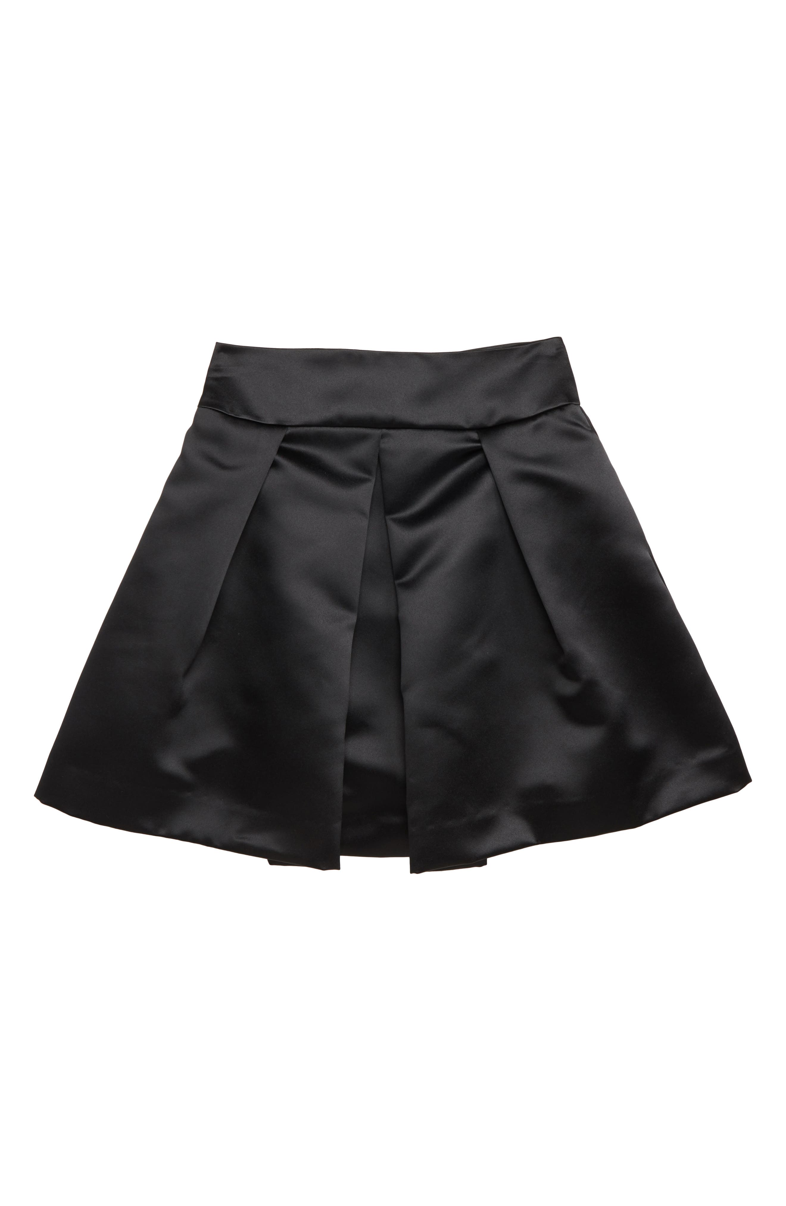 MILLY MINIS, Pleated Skirt, Main thumbnail 1, color, 001