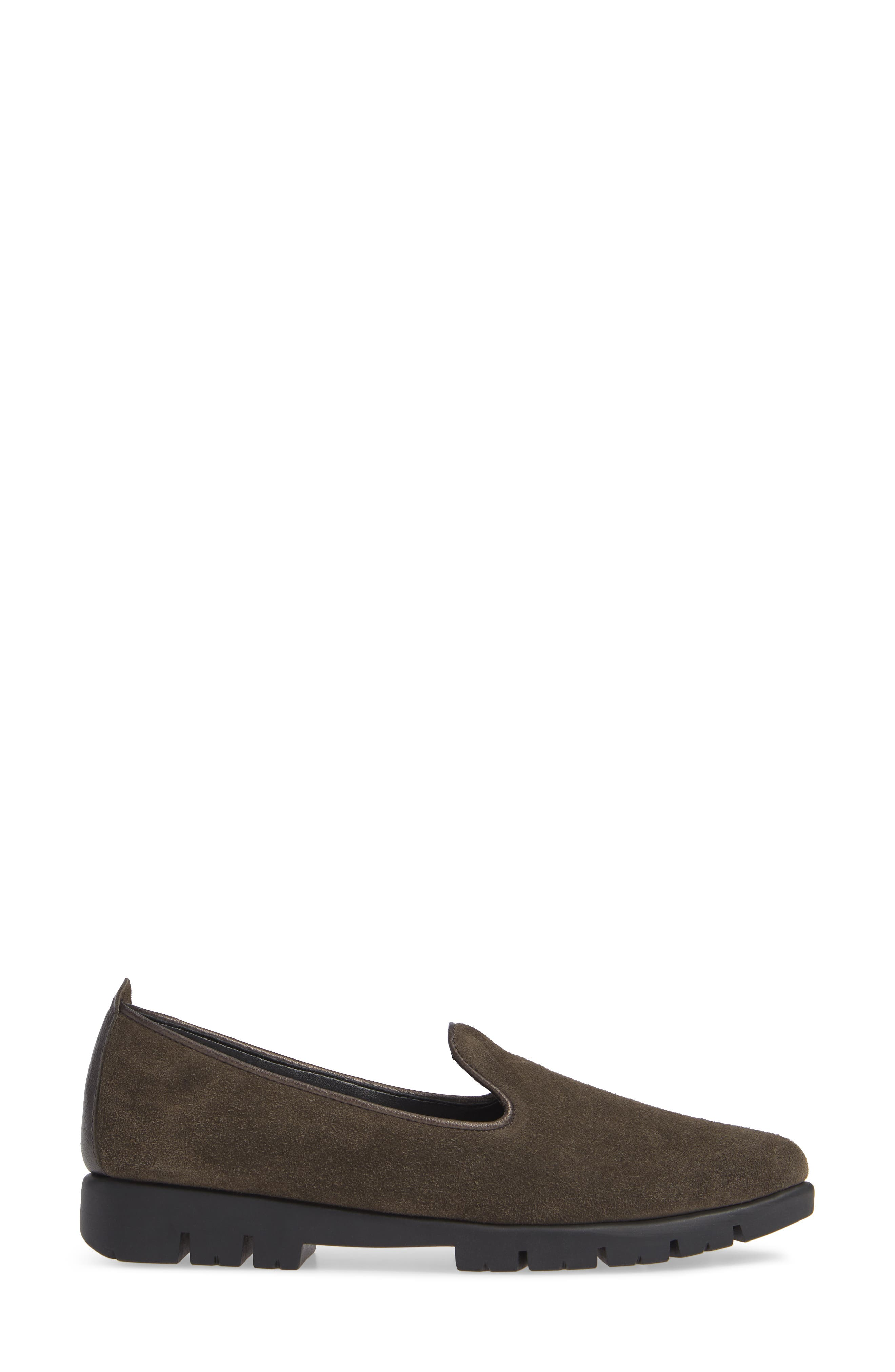 THE FLEXX, Smokin' Hot Plush Loafer, Alternate thumbnail 3, color, BROWN SUEDE