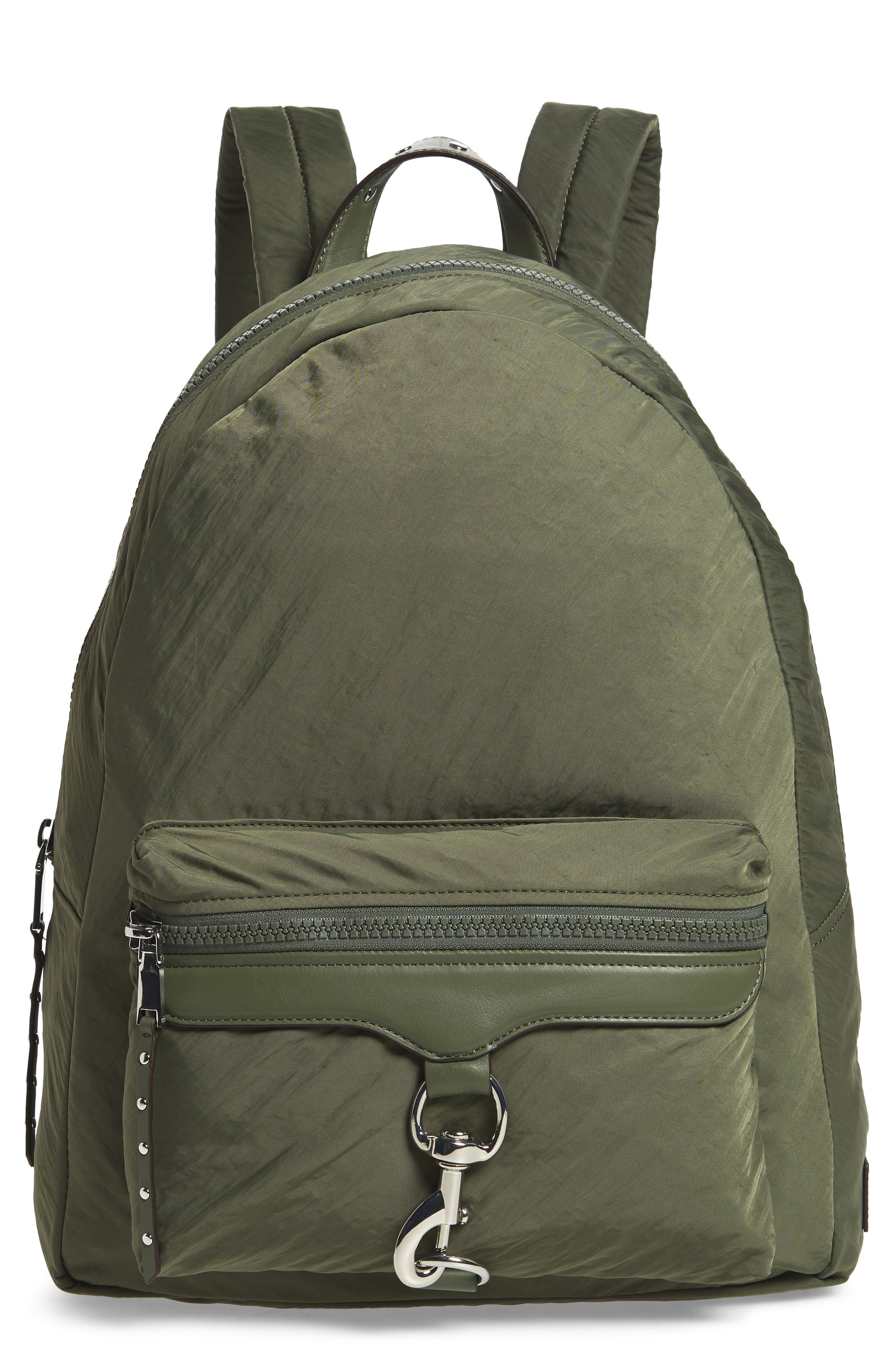 REBECCA MINKOFF Always On MAB Backpack, Main, color, OLIVE
