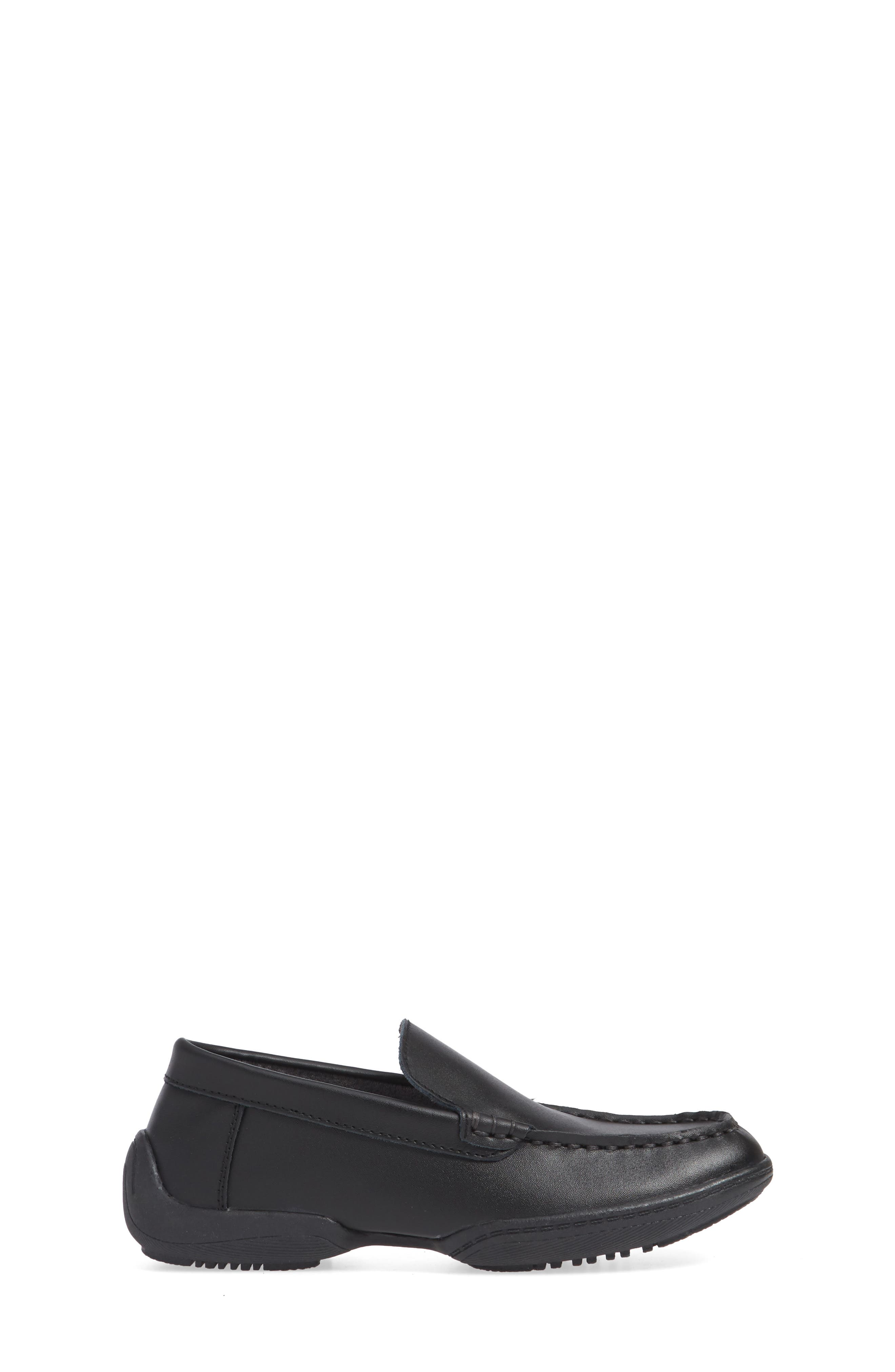 REACTION KENNETH COLE, Driving Dime Moccasin, Alternate thumbnail 3, color, DARK BLACK LEATHER