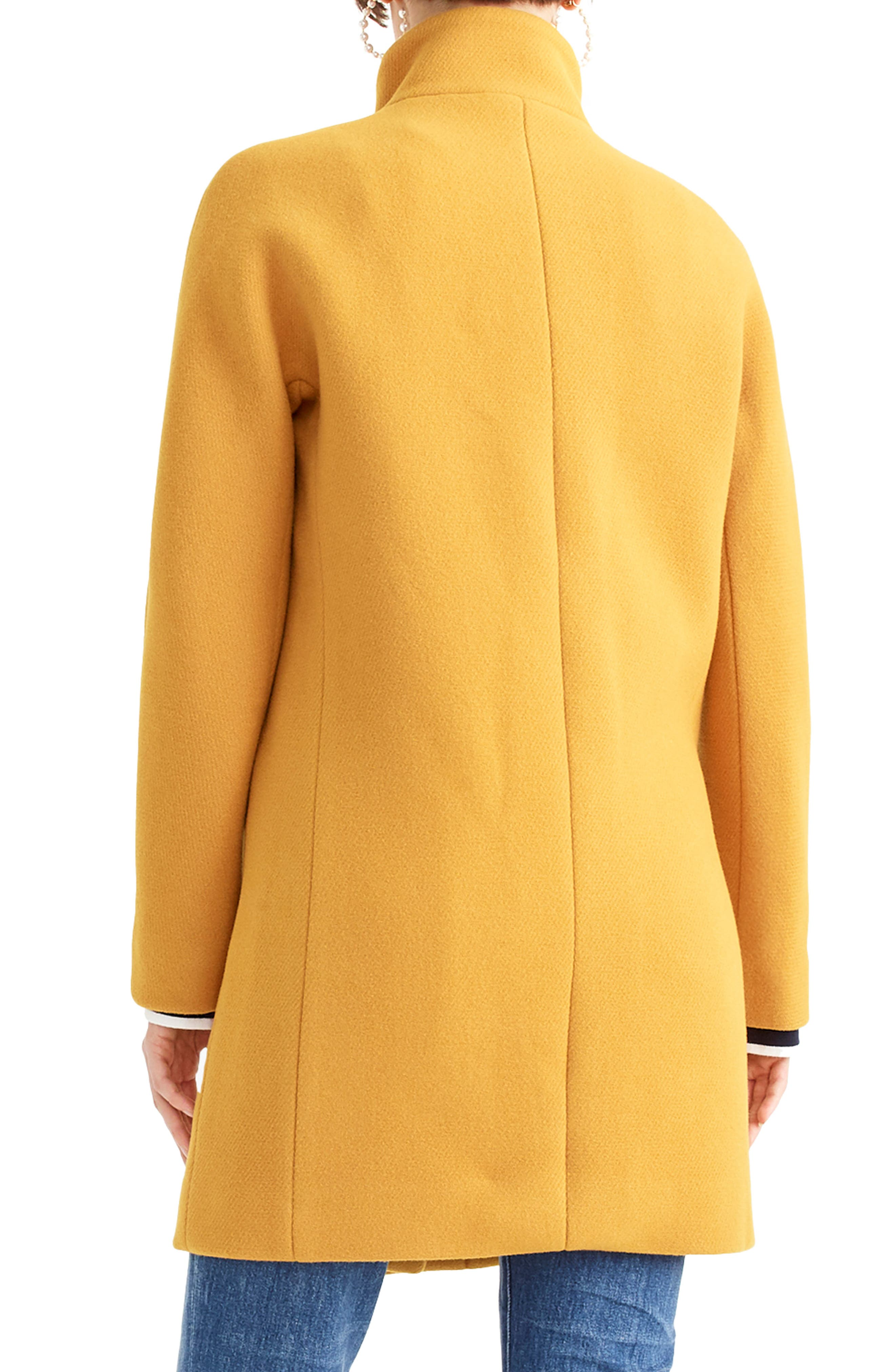 J.CREW, Stadium Cloth Cocoon Coat, Alternate thumbnail 2, color, 800