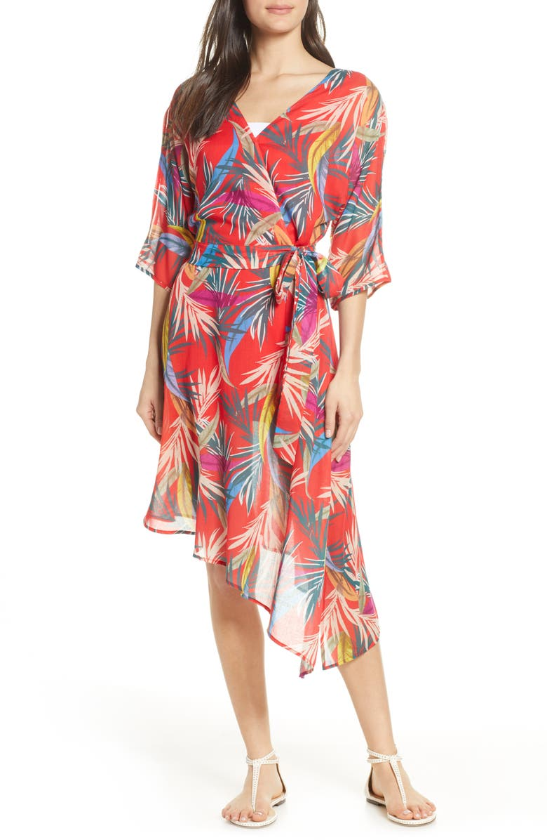 Red Carter Dresses ELIZA COVER-UP WRAP DRESS