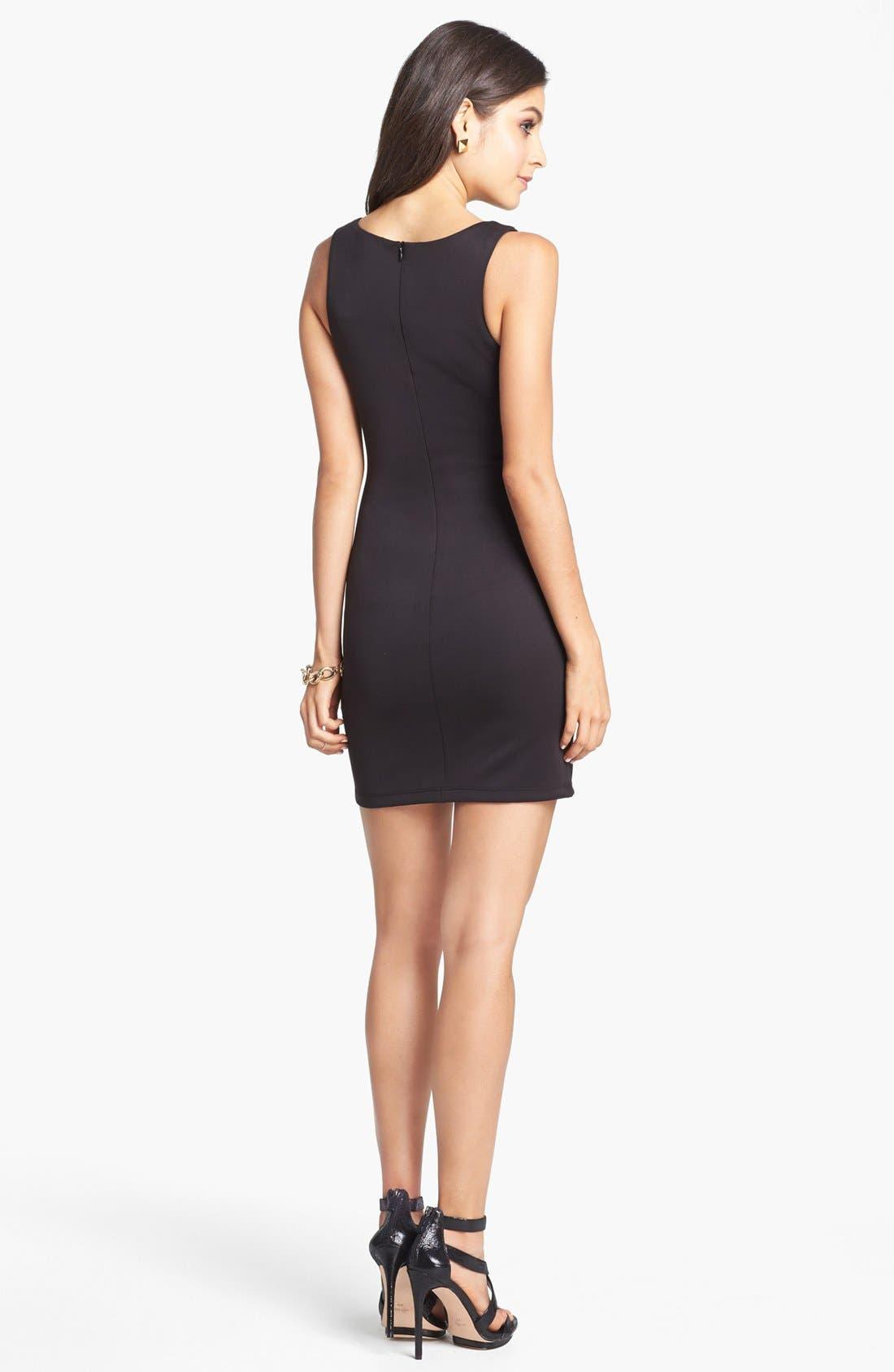 AS U WISH, Sequin Body-Con Dress, Alternate thumbnail 3, color, 001