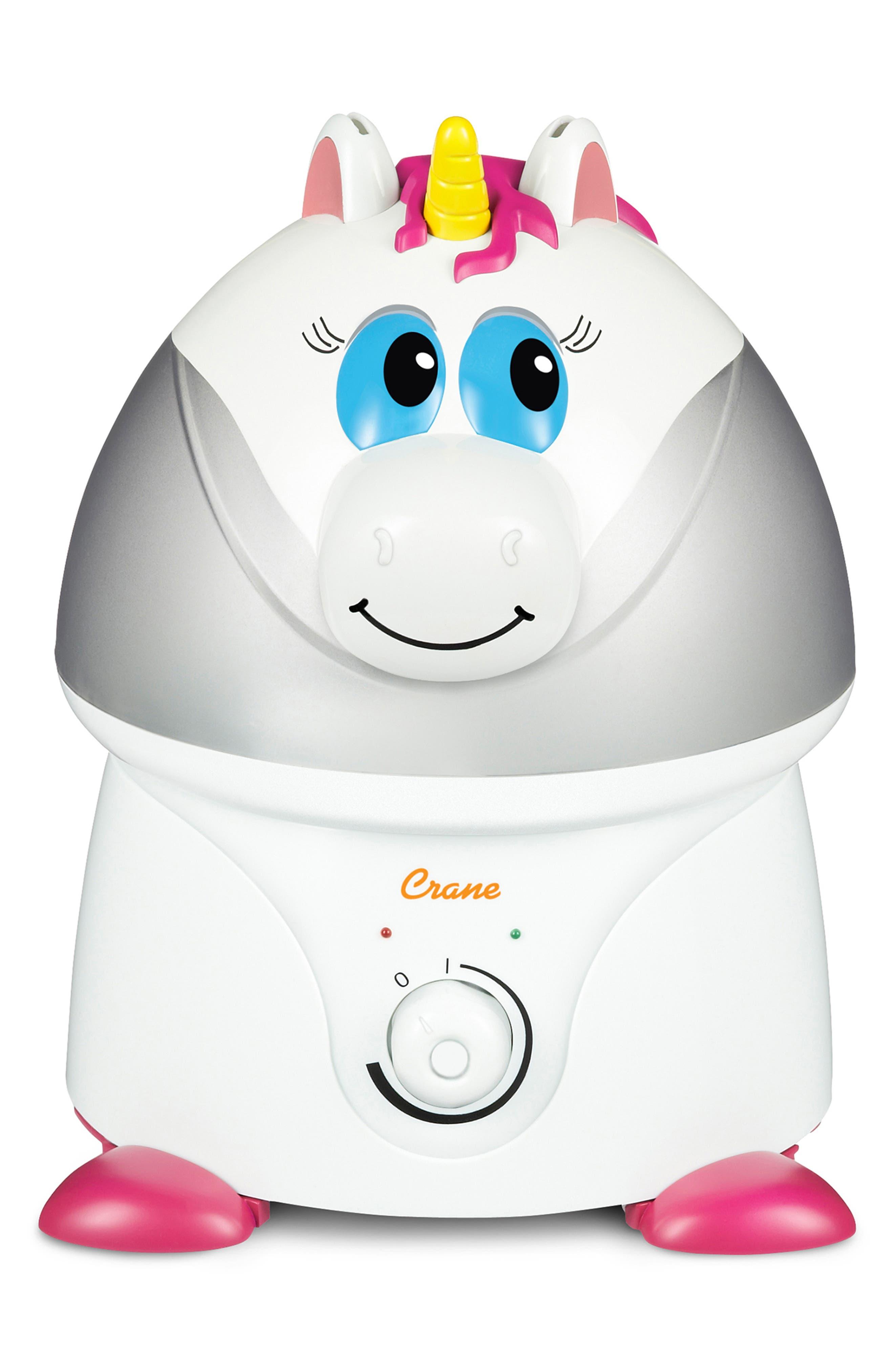 CRANE AIR Unicorn Ultrasonic Cool-Mist Humidifier, Main, color, WHITE