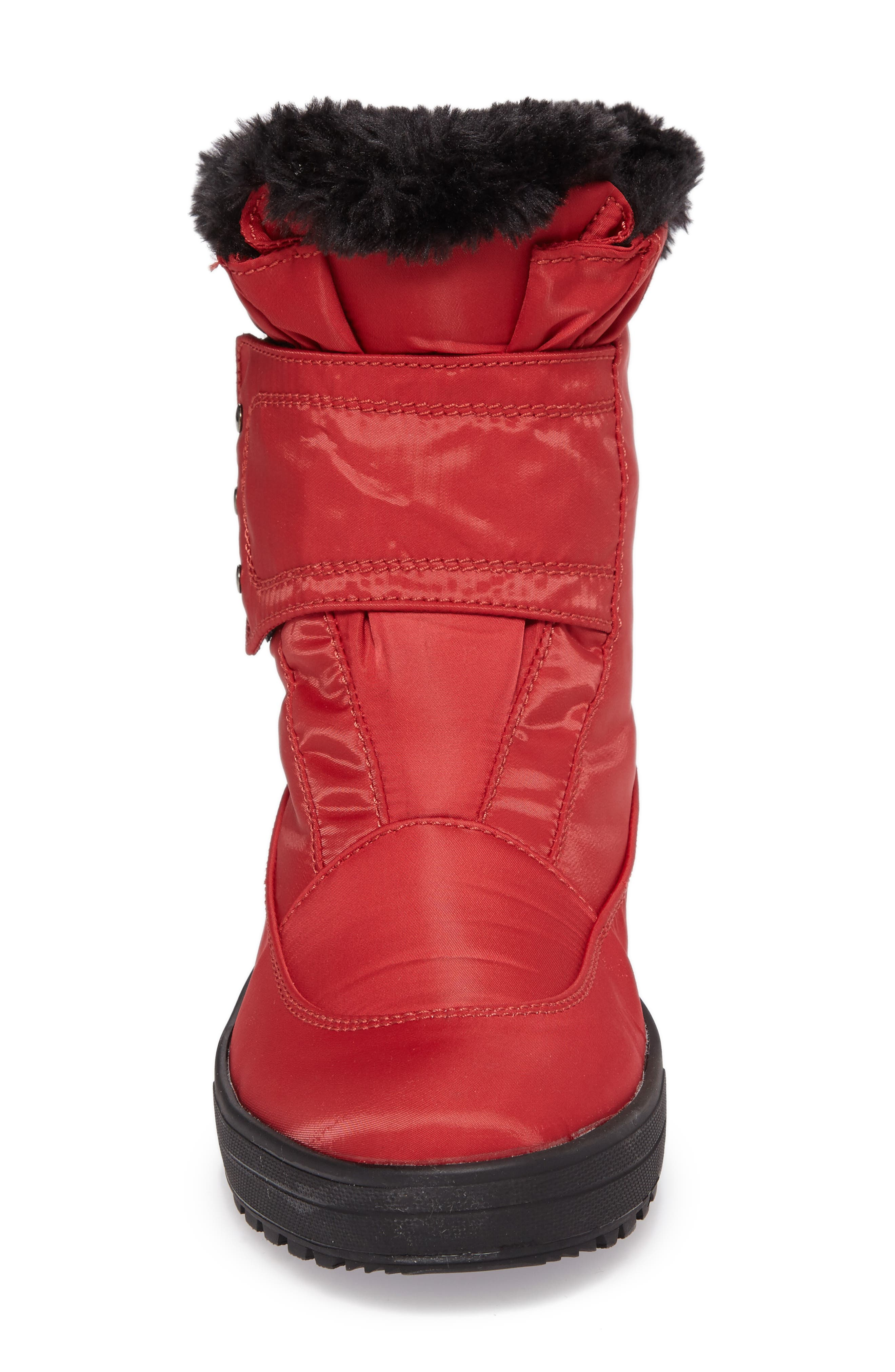PAJAR, Shoes Moscou Snow Boot, Alternate thumbnail 4, color, RED FABRIC