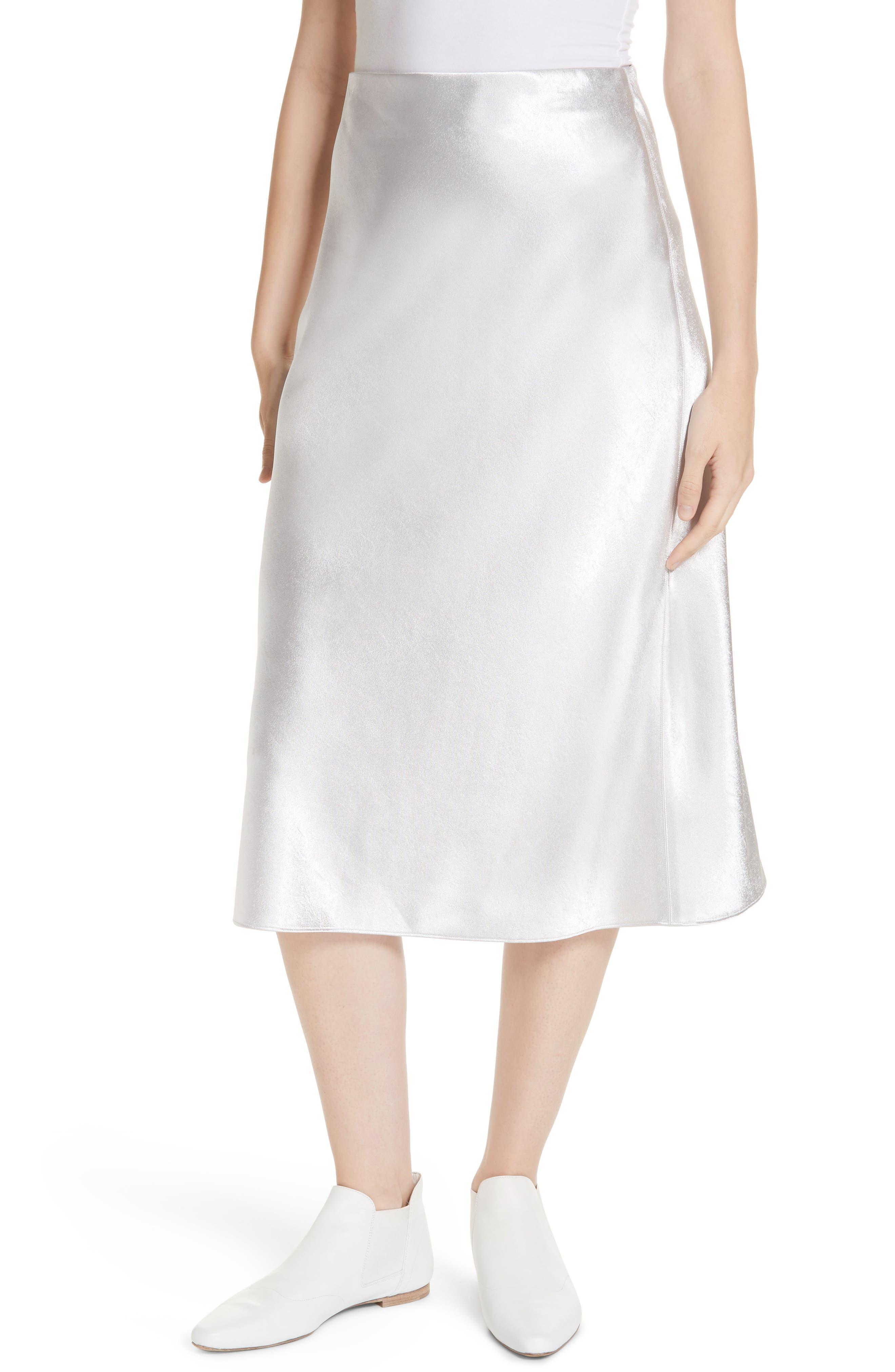 VINCE Satin Slip Skirt, Main, color, 043