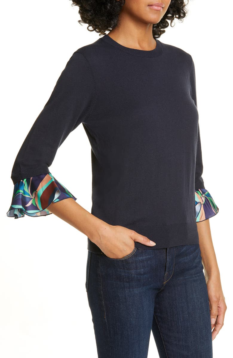 a87f1b878127 Ted Baker Jynifer Supernatural Contrast Cuff Sweater In Navy
