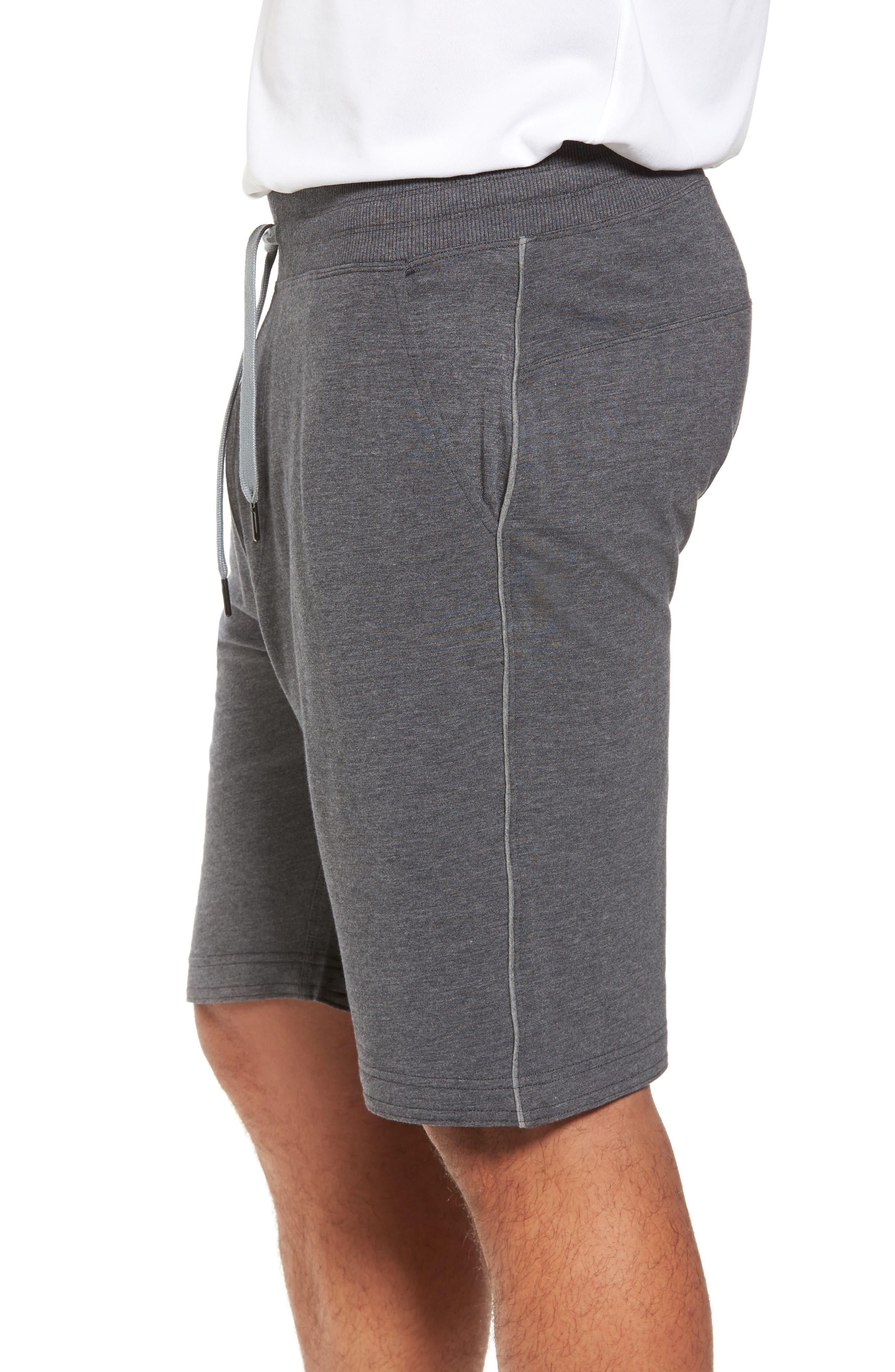 TASC PERFORMANCE, Legacy Athletic Shorts, Alternate thumbnail 3, color, BLACK HEATHER