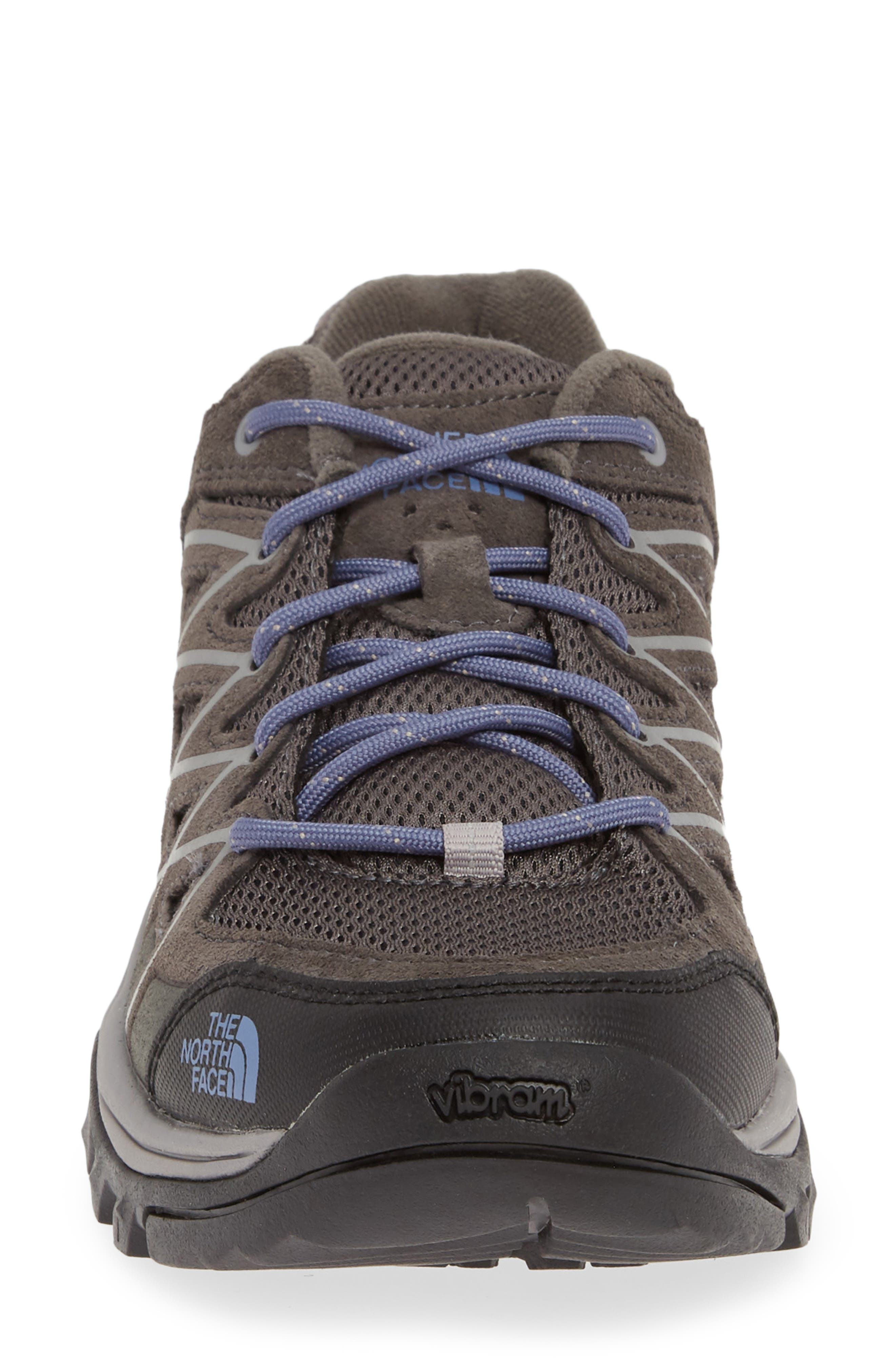 THE NORTH FACE, Storm III Waterproof Hiking Sneaker, Alternate thumbnail 4, color, DARK GULL GREY/ MARLIN BLUE