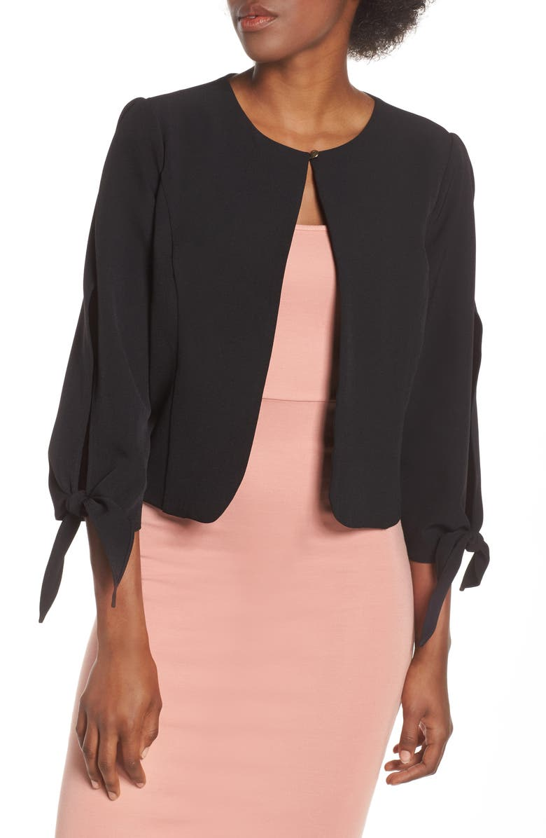 Julia Jordan Jackets TIE SLEEVE JACKET