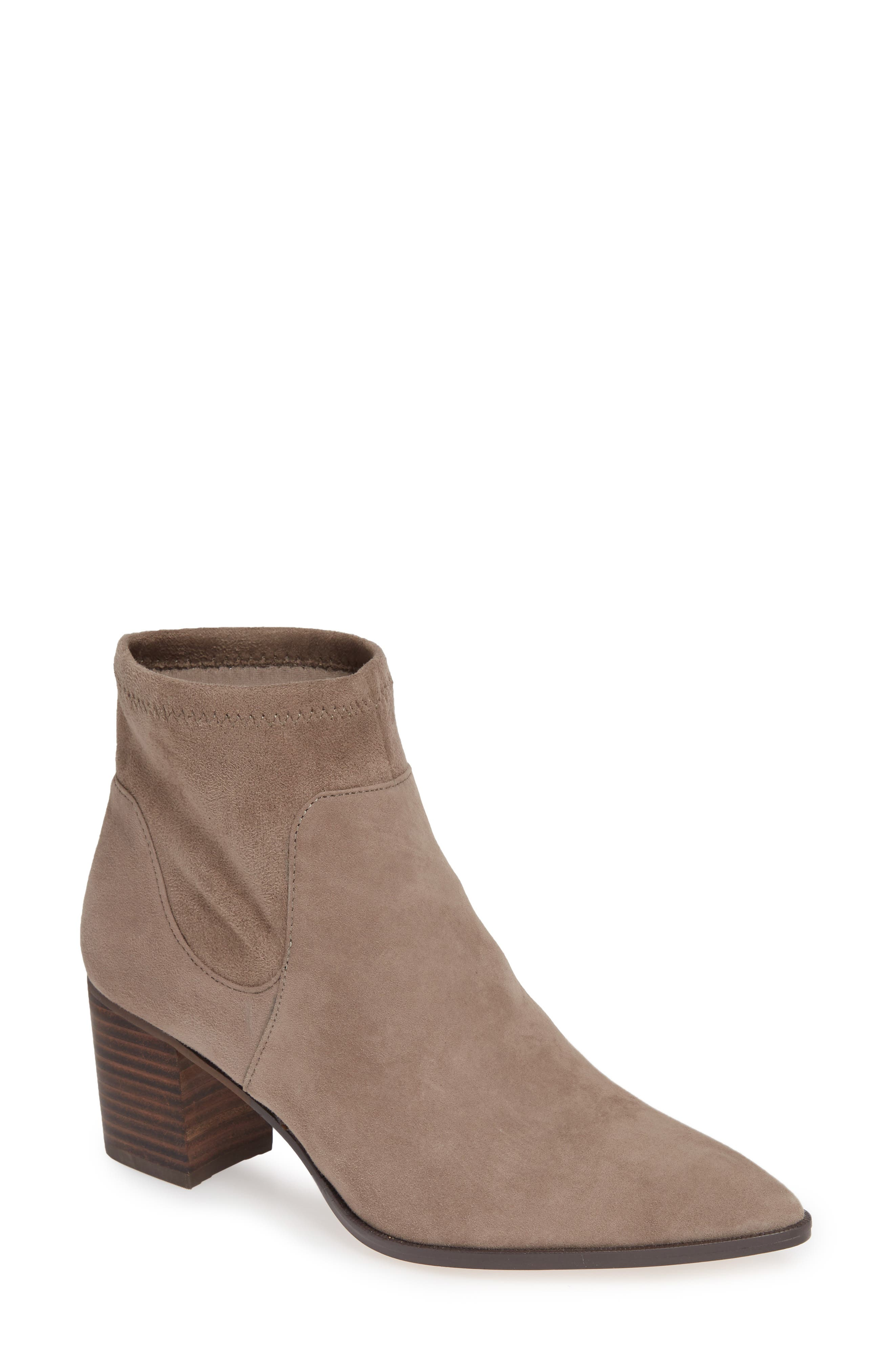 SOLE SOCIETY, Dawnina Bootie, Main thumbnail 1, color, PORCINI SUEDE
