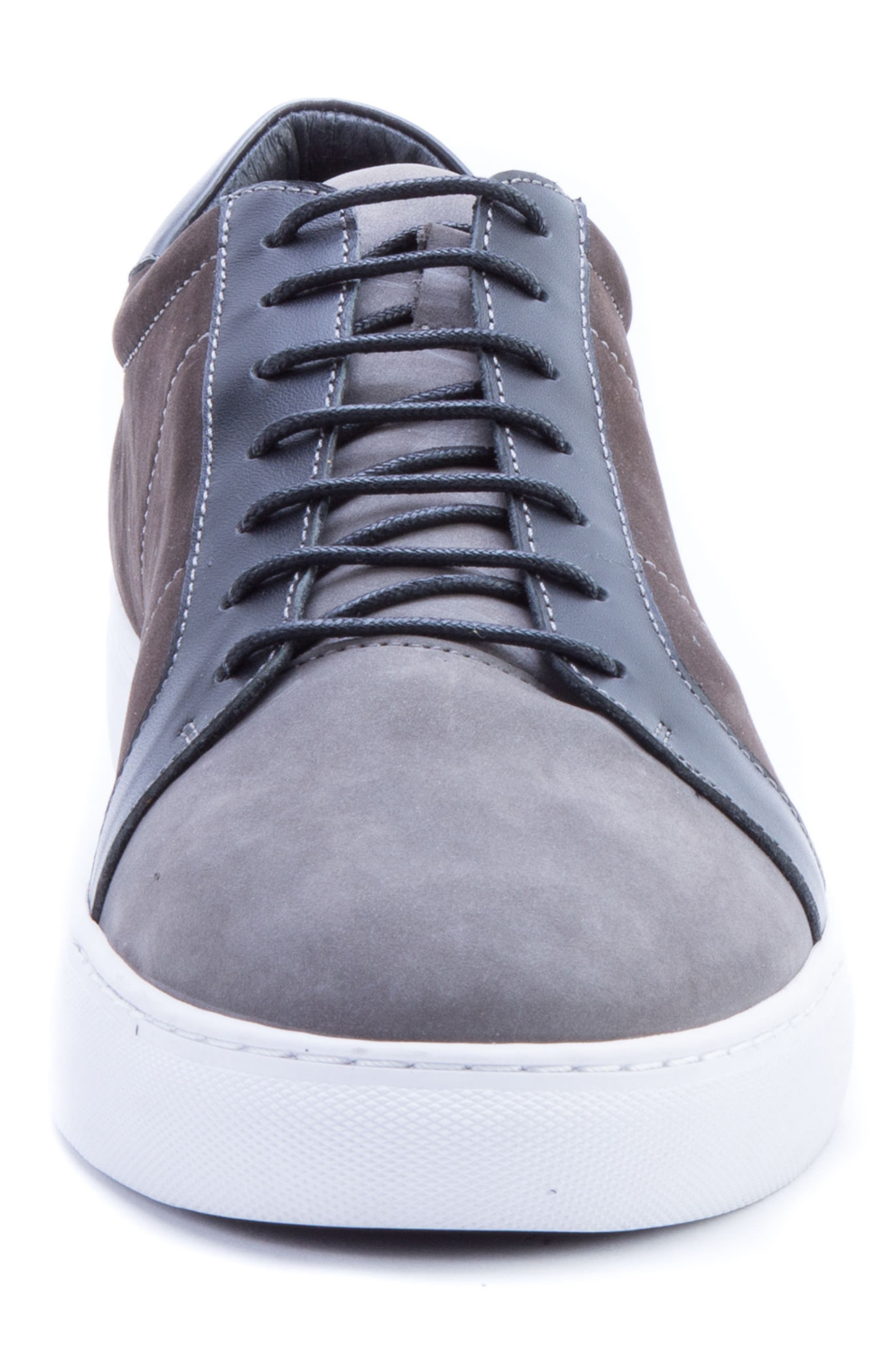 ROBERT GRAHAM, Gonzalo Low Top Sneaker, Alternate thumbnail 4, color, GREY SUEDE