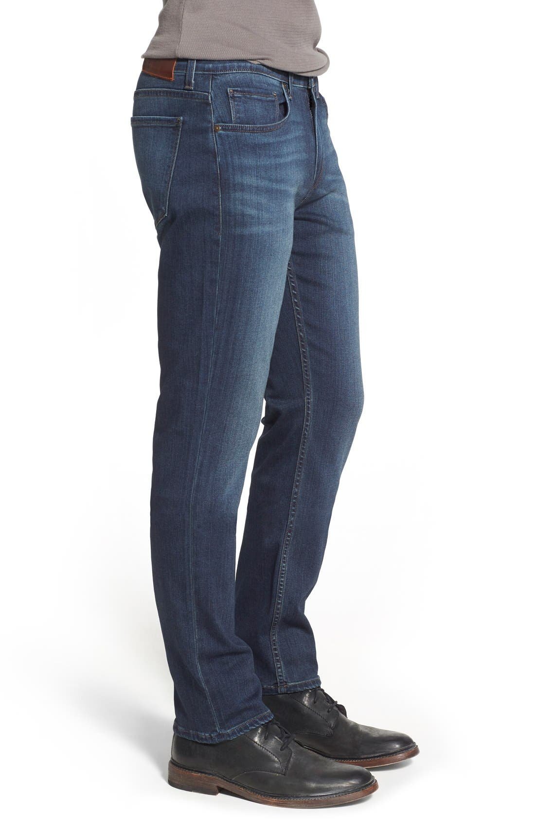 PAIGE, 'Federal' Slim Straight Leg Jeans, Alternate thumbnail 10, color, BLAKELY