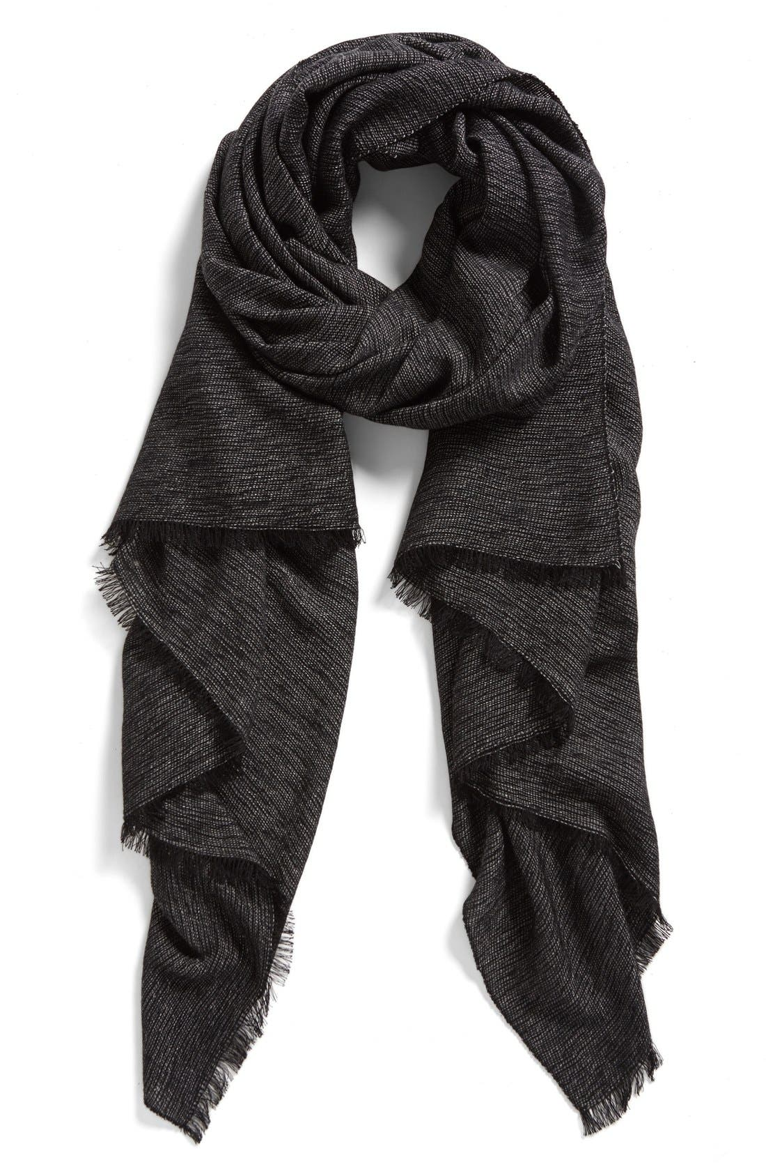 HALOGEN<SUP>®</SUP> Cross Dye Scarf, Main, color, 001